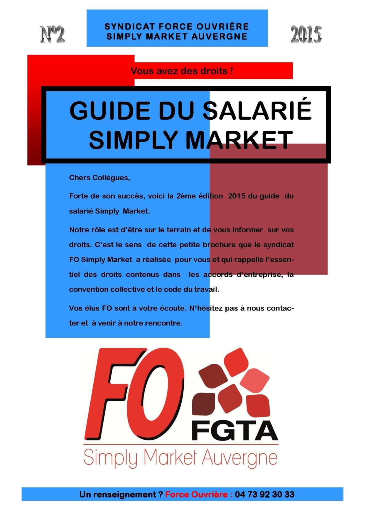 Calameo Guide Du Salarie Fo Simply Market 2015