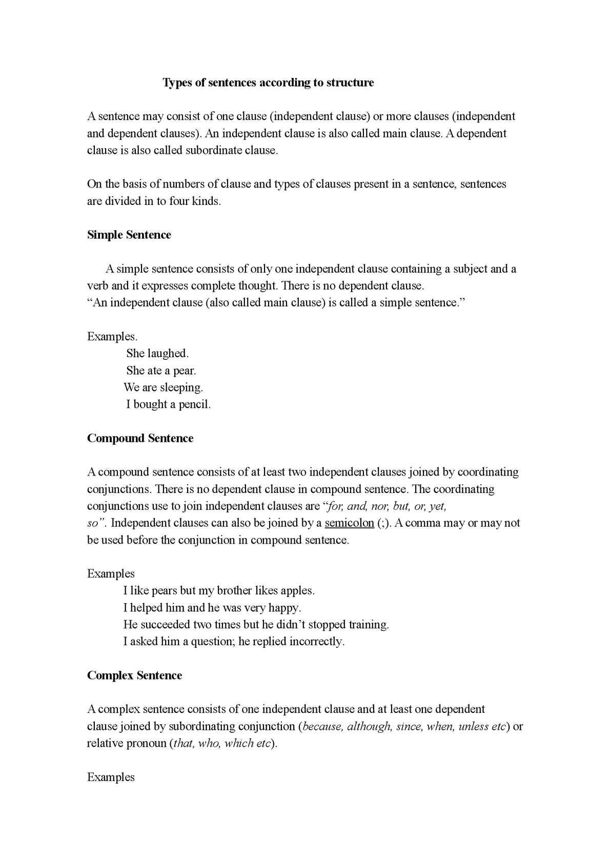 Calaméo - Types of sentences