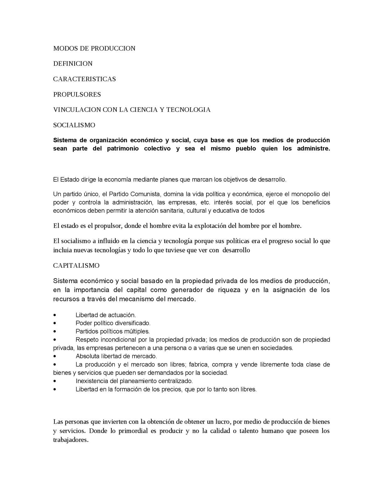 Calaméo - Cuadro Comparativo MODOS DE PRODUCCION
