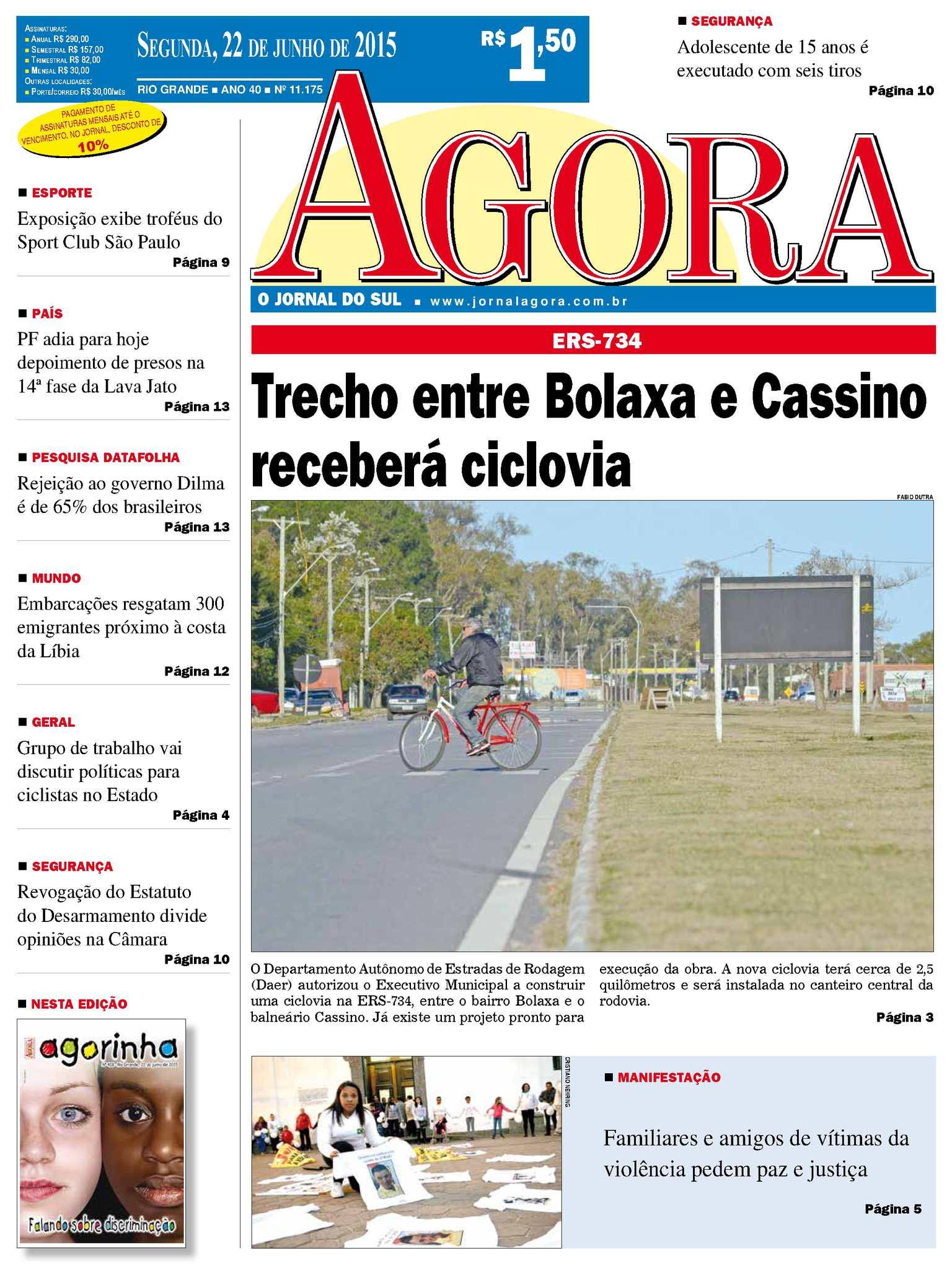 Calaméo - Jornal Agora - Edição 11175 - 22 de Junho de 2015 bac51335177de