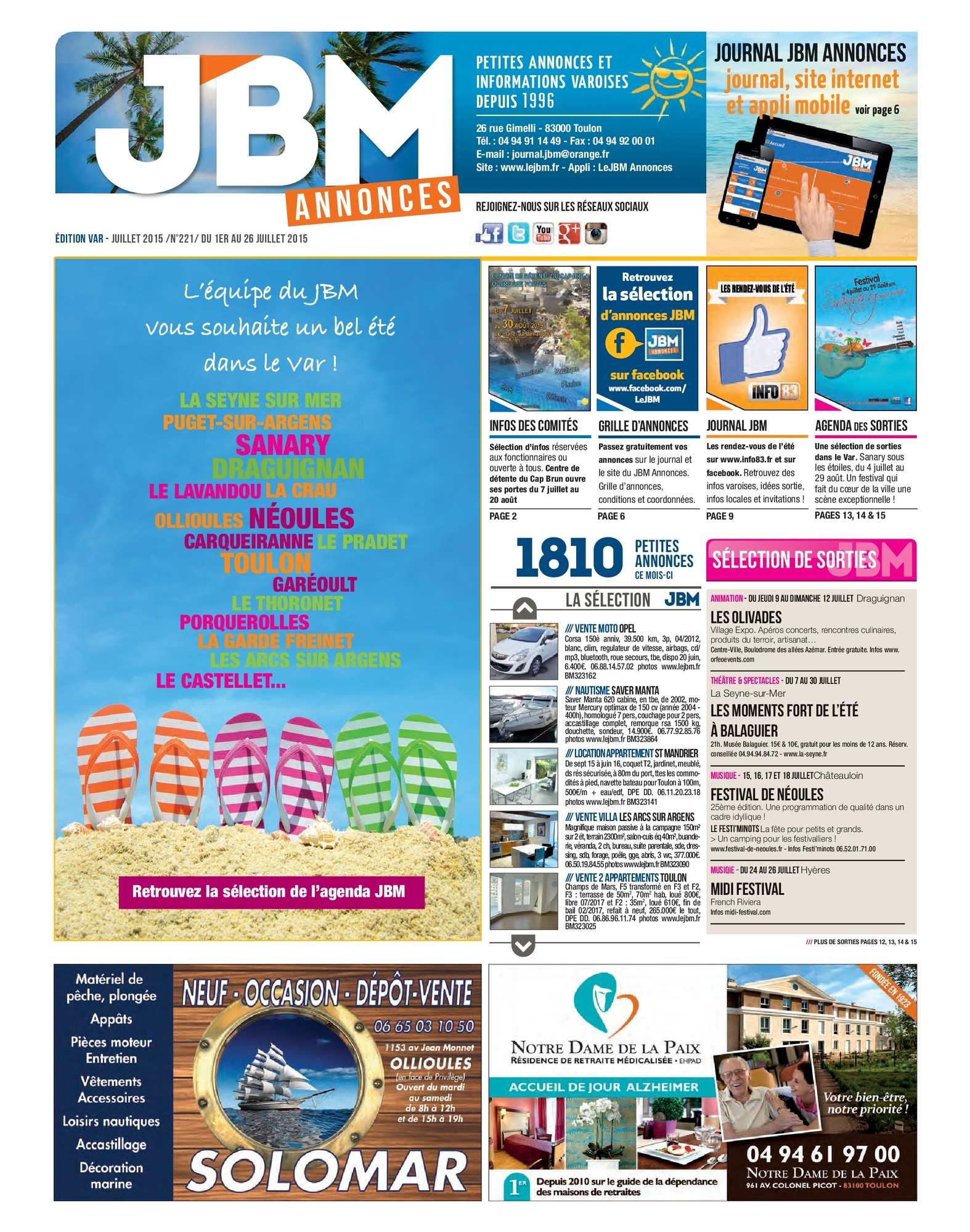 Jbm N°221 Journal Juillet Annonces 2015 Calaméo LMjzUGSpqV
