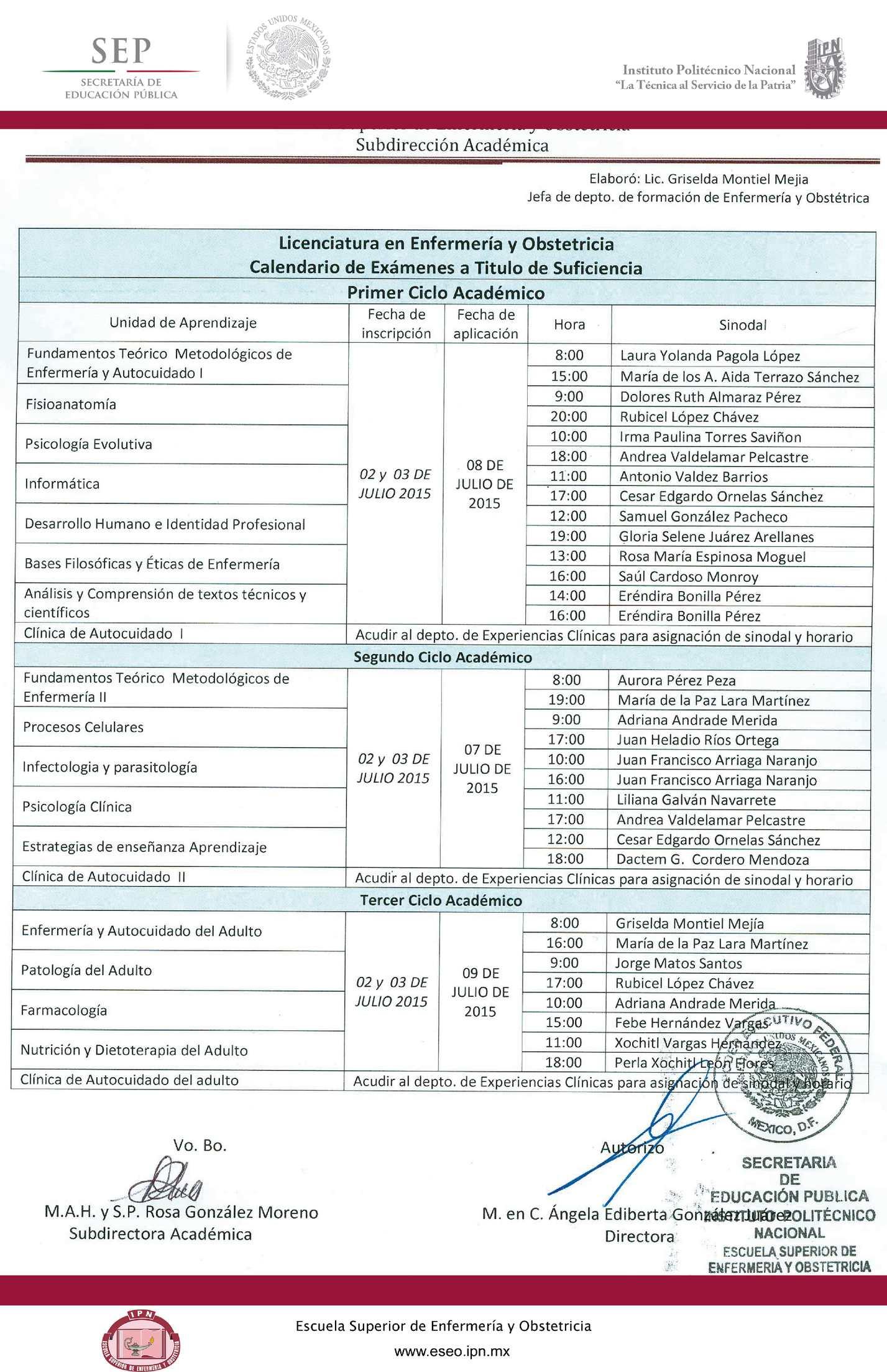 Calendario Politecnico.Calameo Calendario 15 Leo