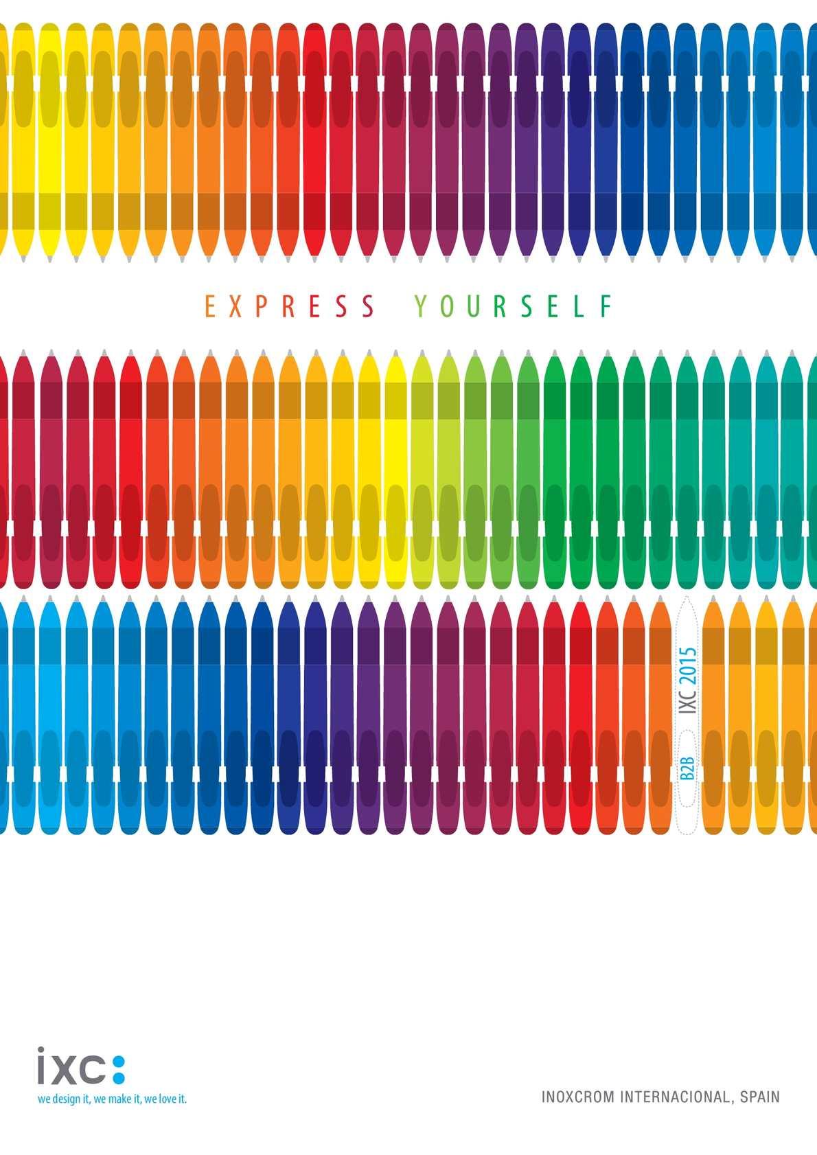 Bolígrafo ingravid color gris Inoxcrom