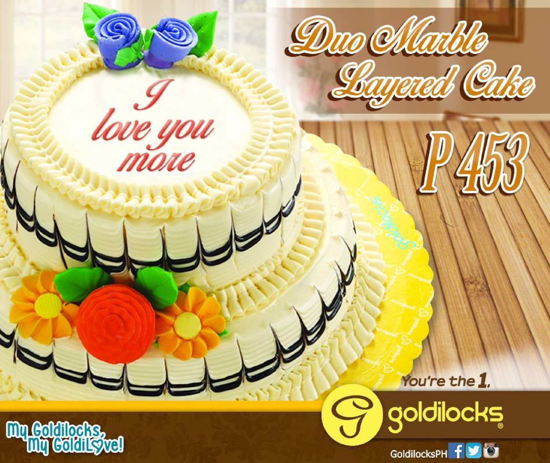 Calam 233 O Duo Marble Layered Cake For Only P453 Available