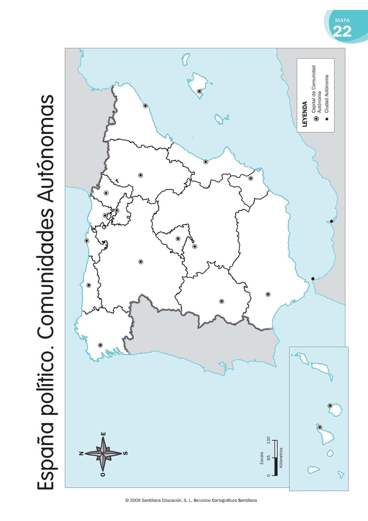 Calameo Mapa Mudo Espana Politico Comunidades Autonomas
