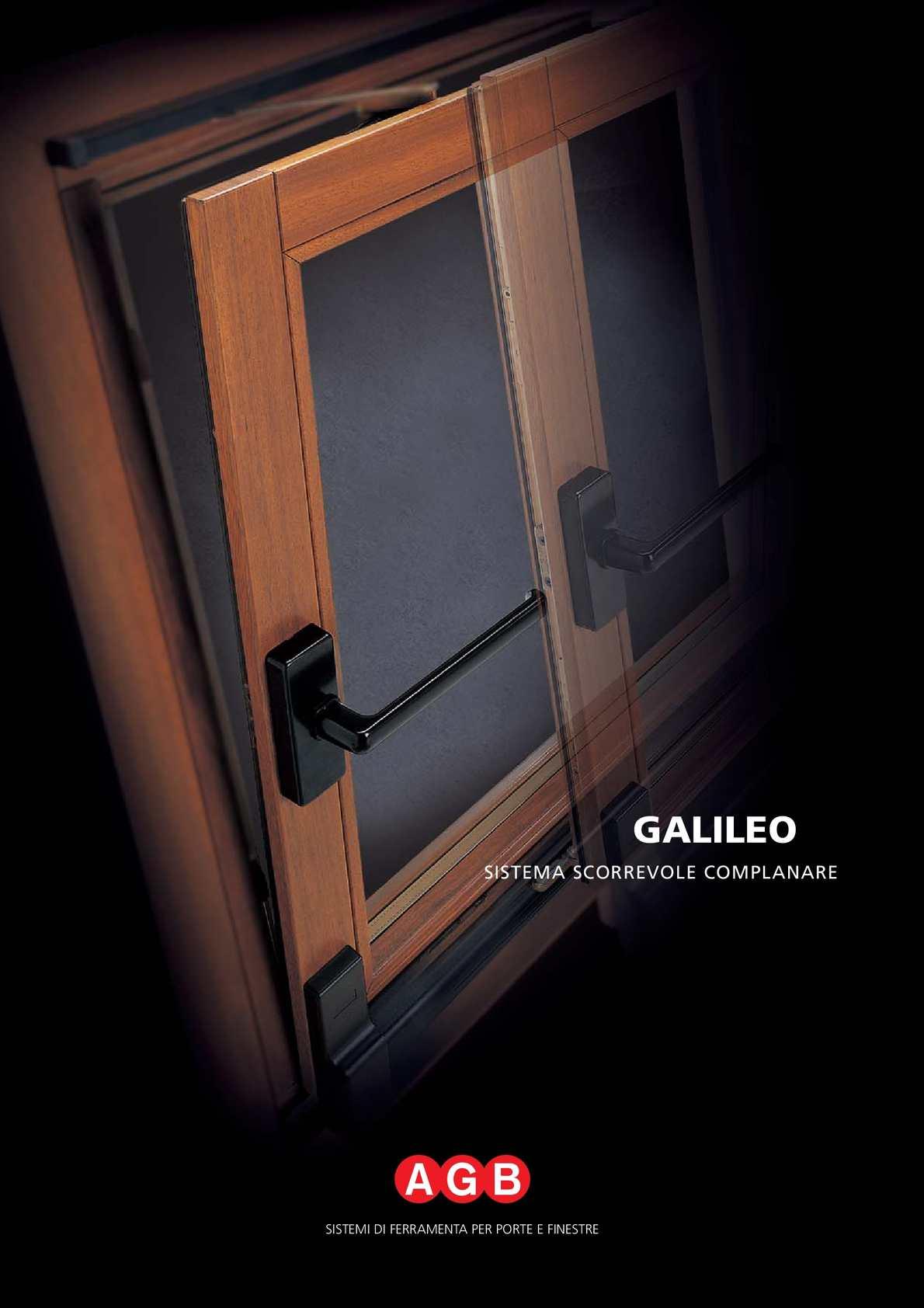 Meccanismo Ante Scorrevoli Complanari.Calameo Agb Galileo Complanare