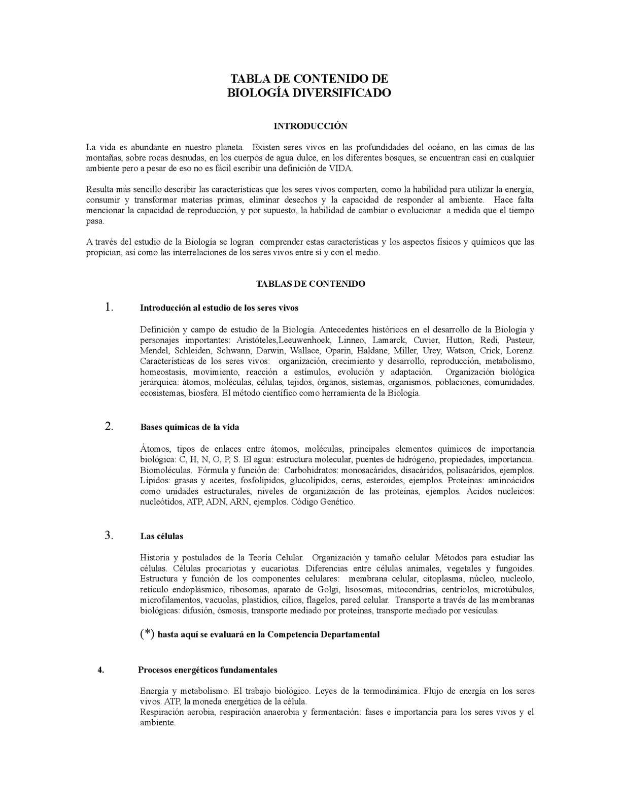 Calaméo Tabla De Contenidos Biologia