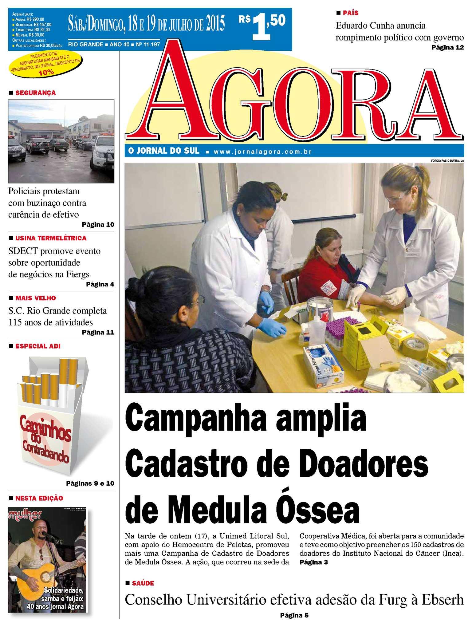 8f7beae7e47 Calaméo - Jornal Agora - Edição 11197 - 18 e 19 de Julho de 2015