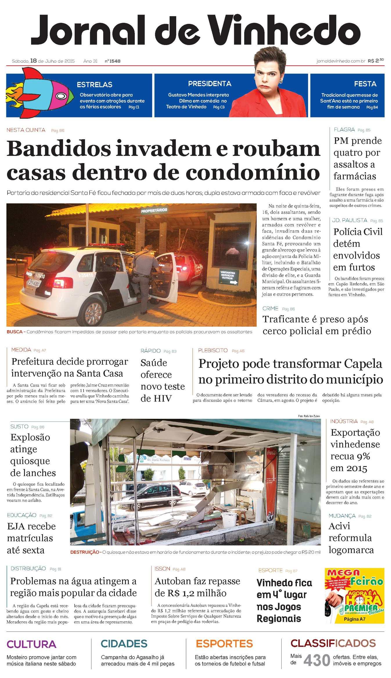 Calaméo - Jornal De Vinhedo Sábado, 18 De Julho De 2015 Edic1548 43126a7b0f