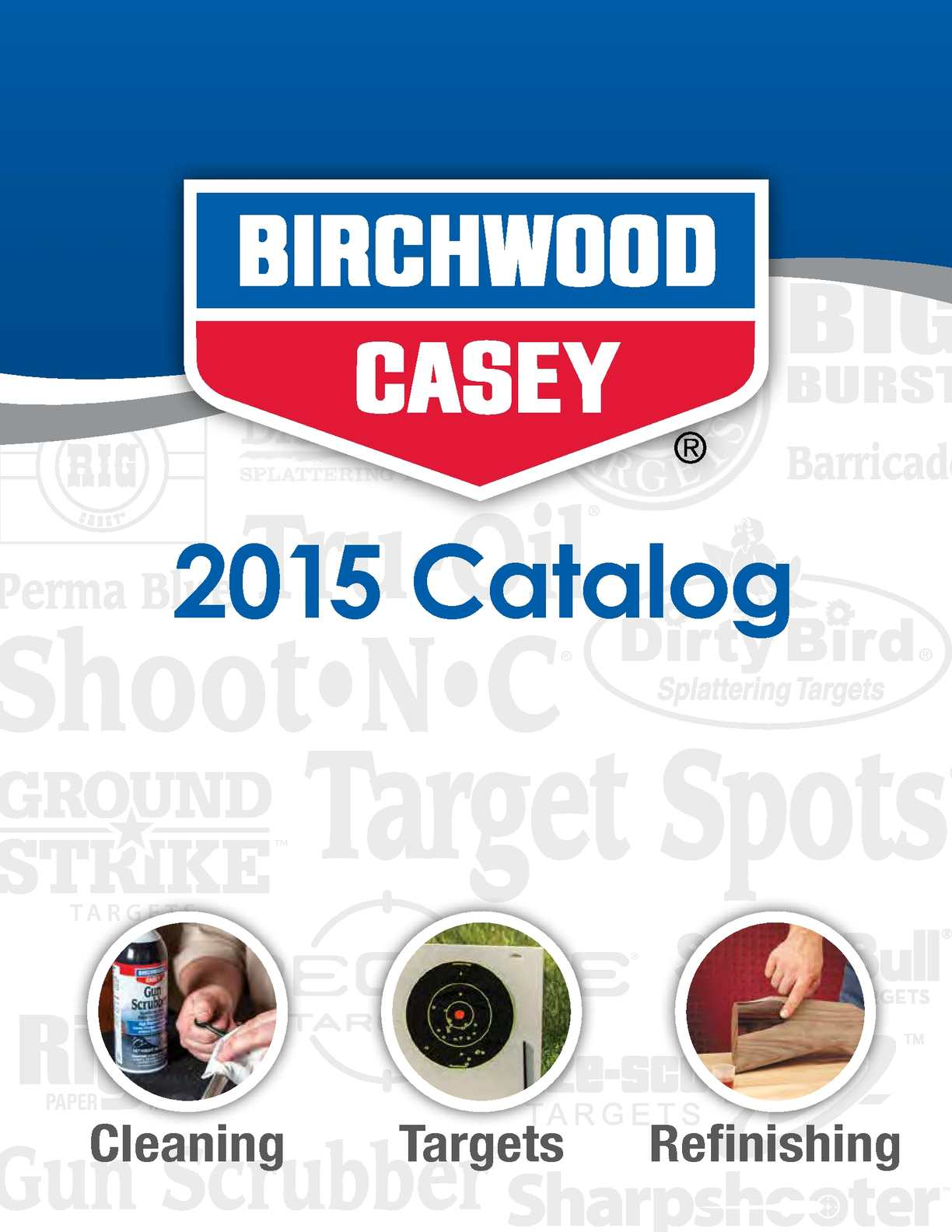 """Birchwood Casey Shoot-N-C 12/"""" BMW Bullseye Targets 5 Pack 34015"""