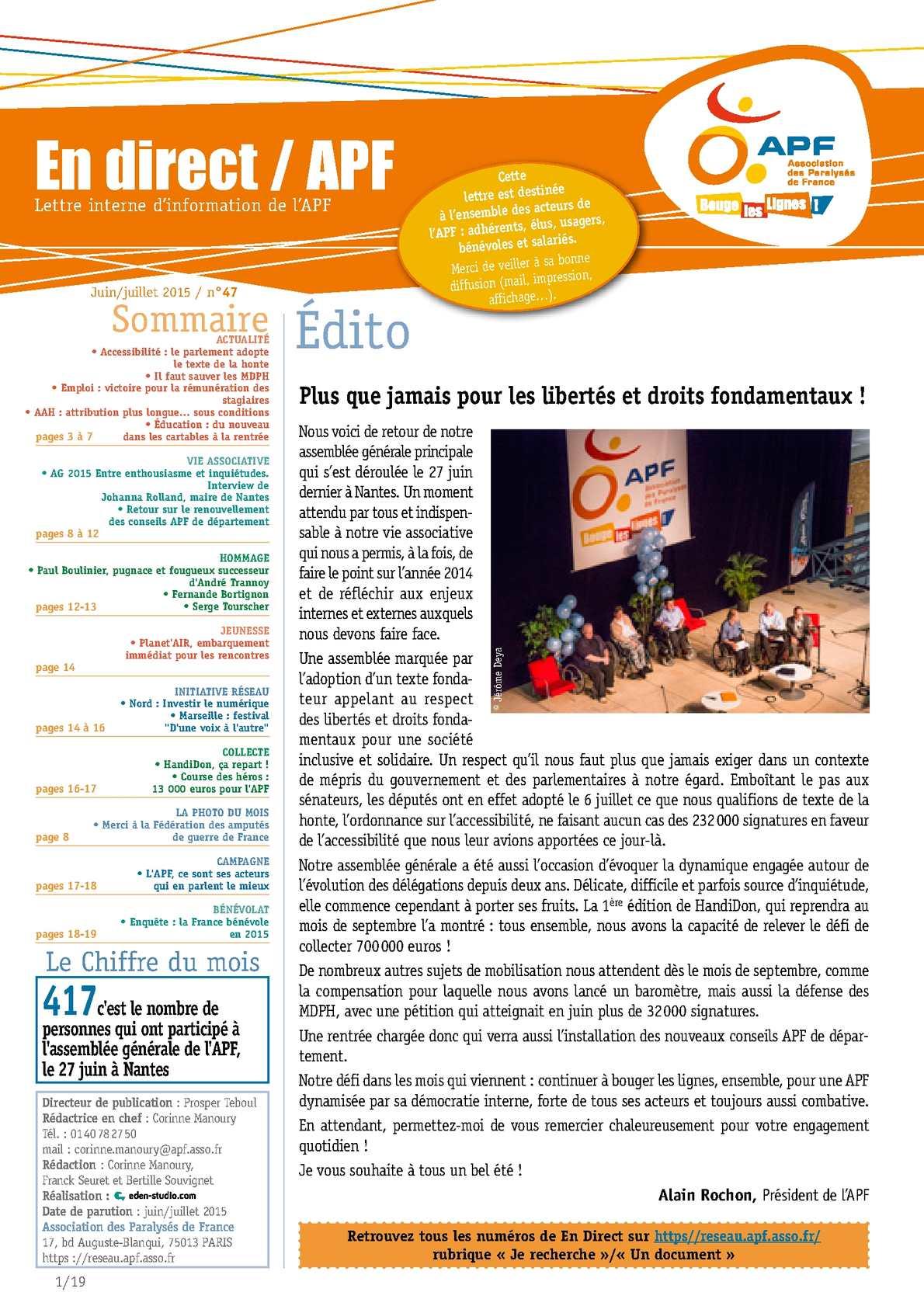 Calameo En Direct Apf N 47 Juin Juillet 2015