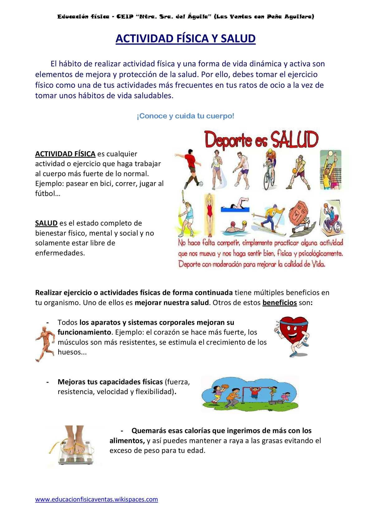 actividades para mejorar la salud fisica