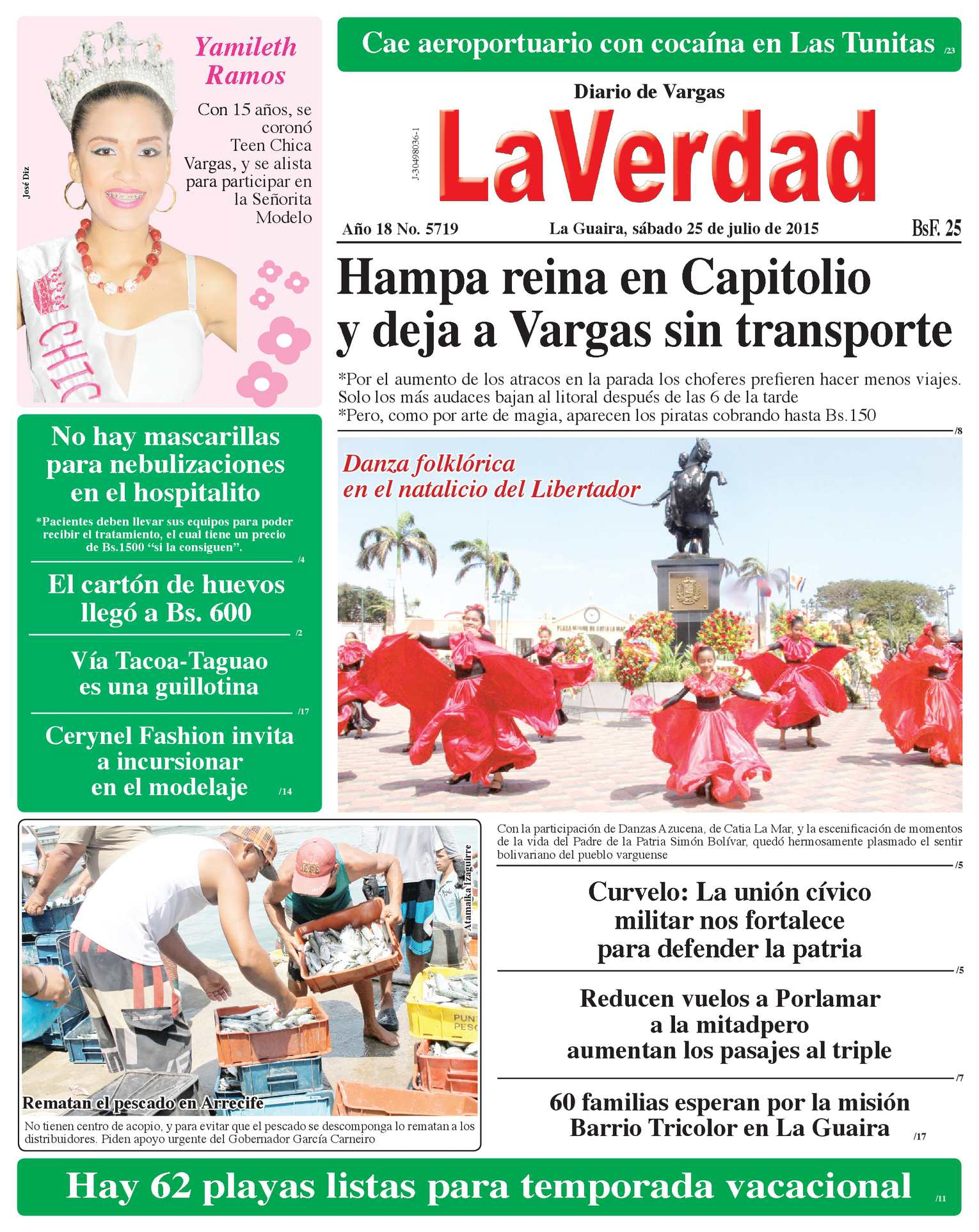 e1284a39f4cf Calaméo - La Guaira, sábado 25 de julio de 2015 Año 18 No. 5719