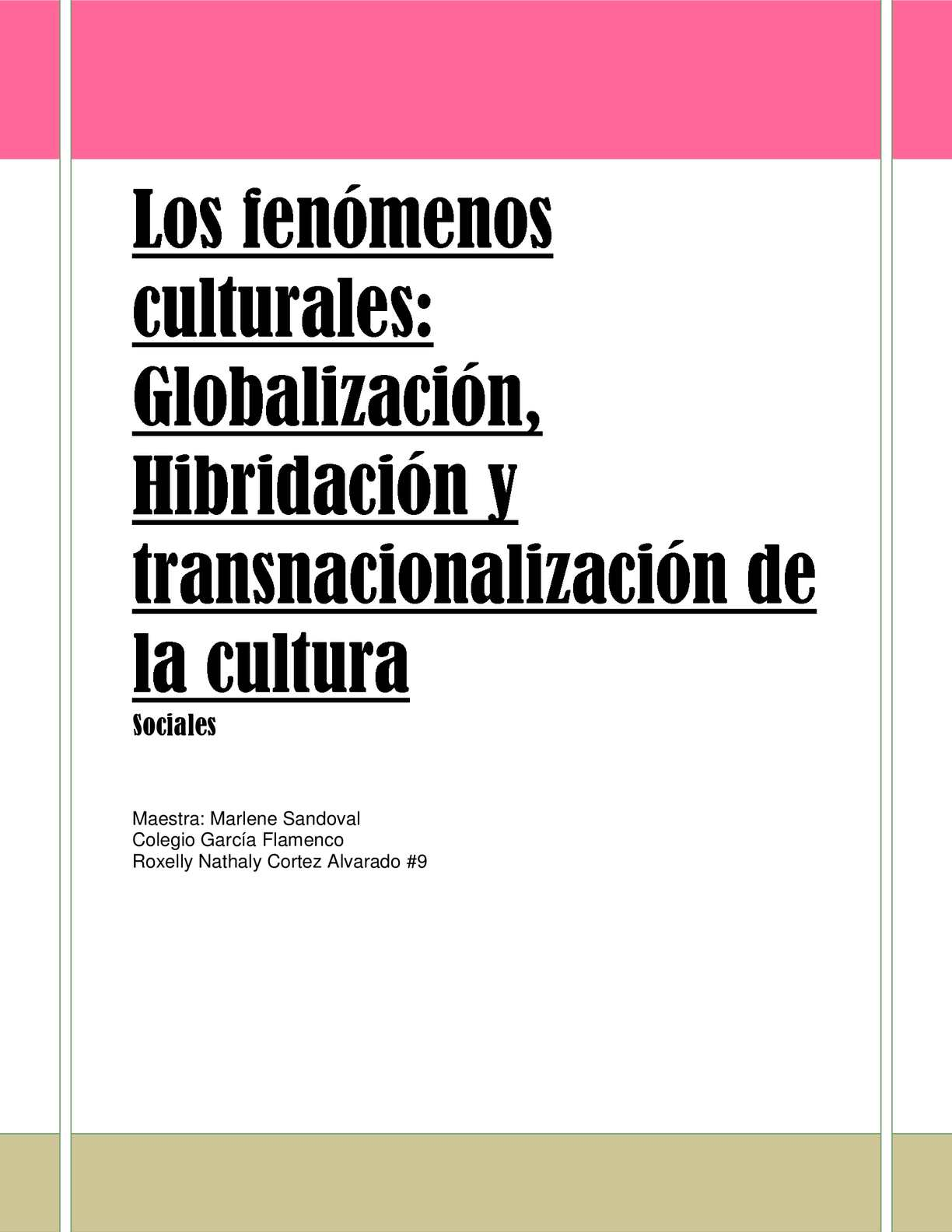 Los Fenómenos Culturales
