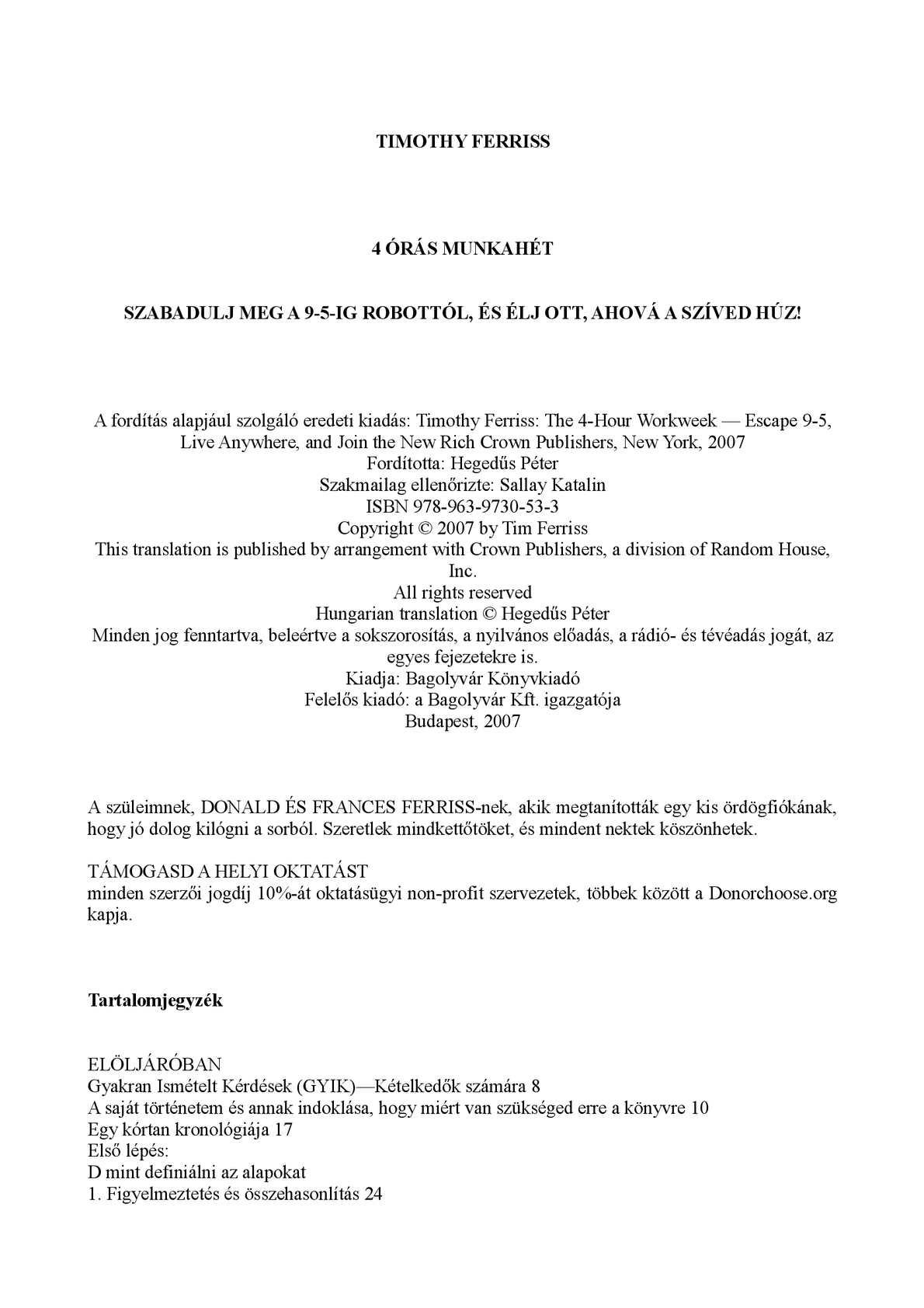 1603f8daffbd Calaméo - Timothy Ferris - 4 órás Munkahét