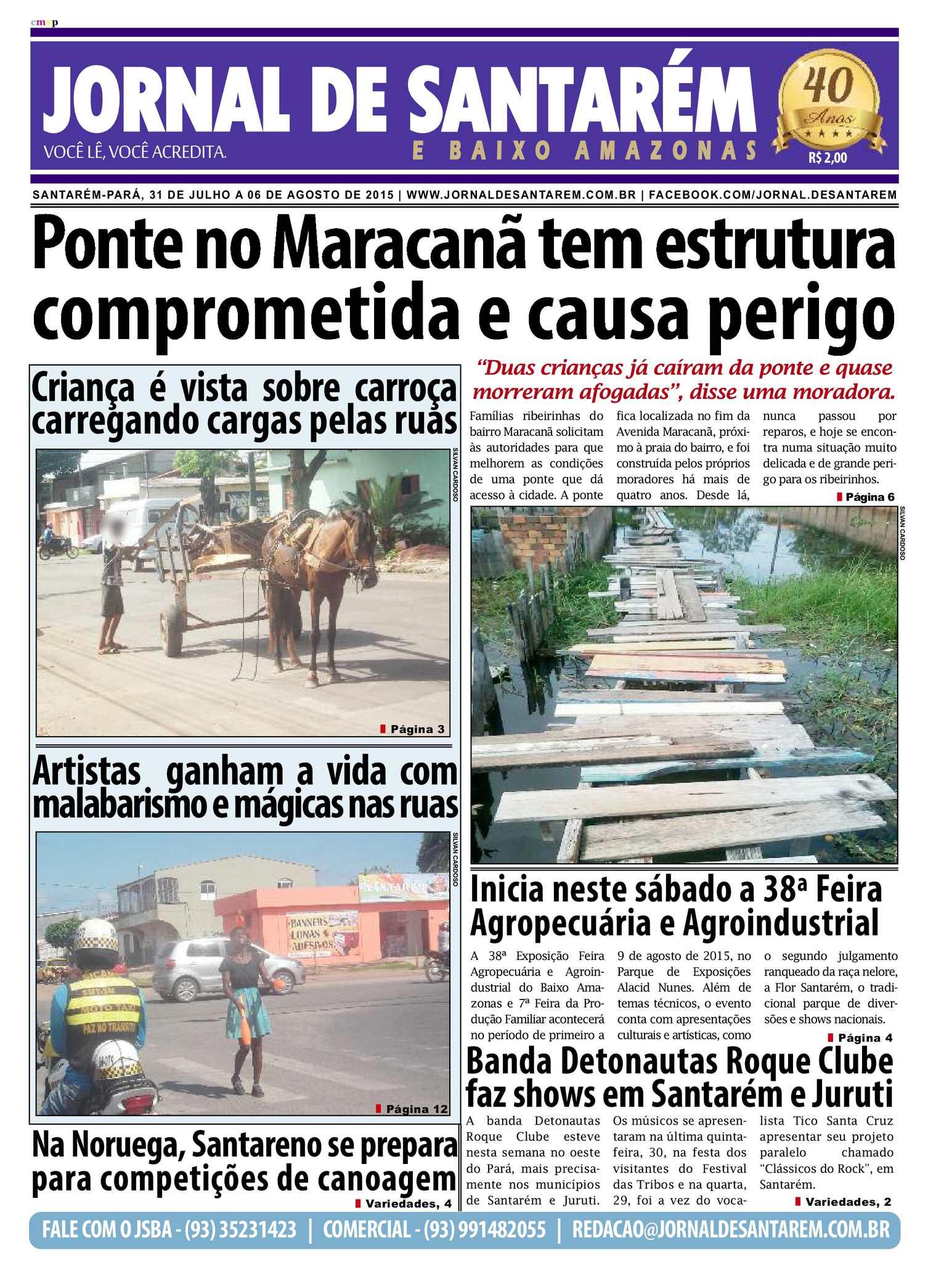 Calaméo - JORNAL DE SANTARÉM E BAIXO AMAZONAS EDIÇÃO DE 31 DE JULHO A 06 DE  AGOSTO DE 2015 438b37cd39fee