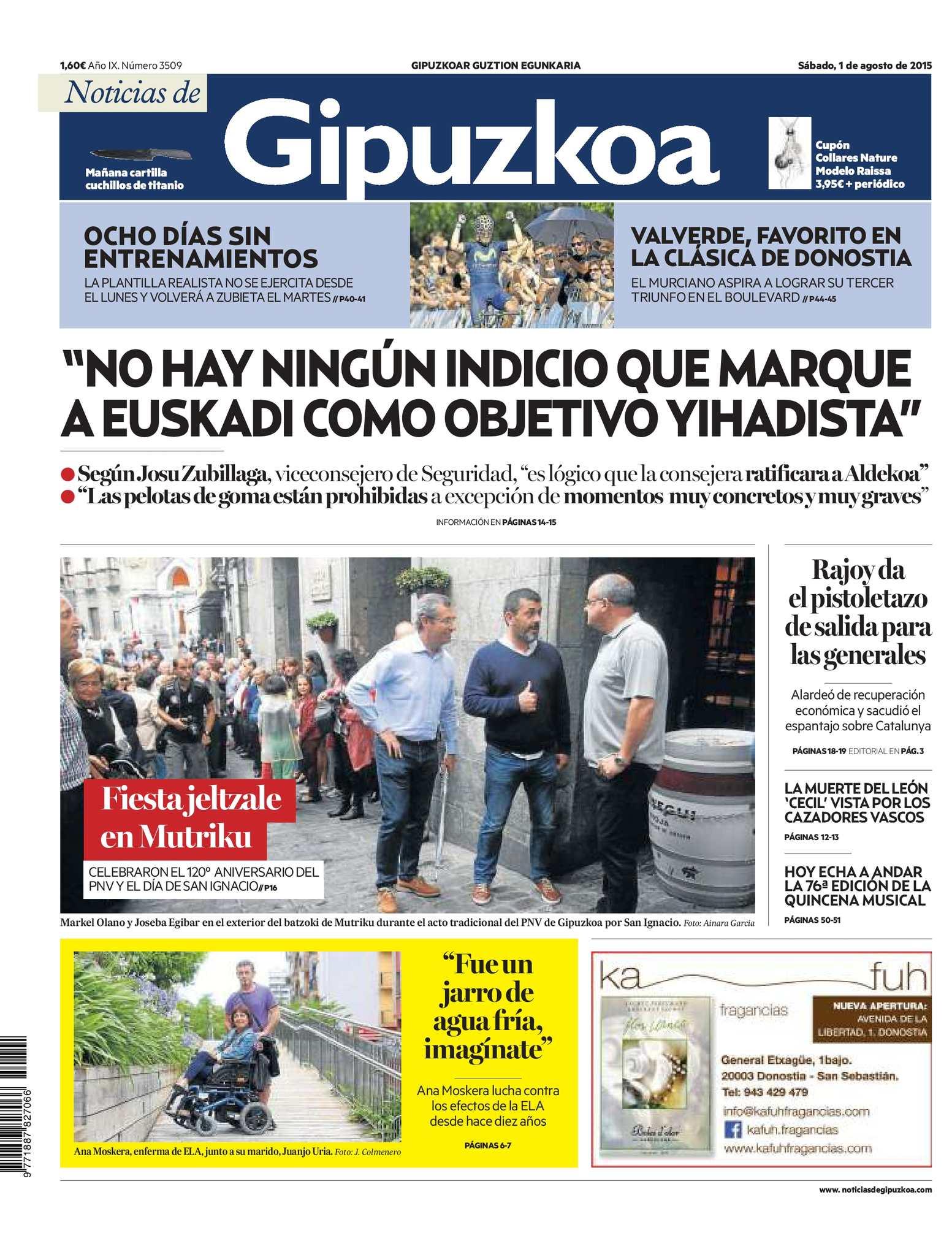 Calaméo Noticias de Gipuzkoa 20150801