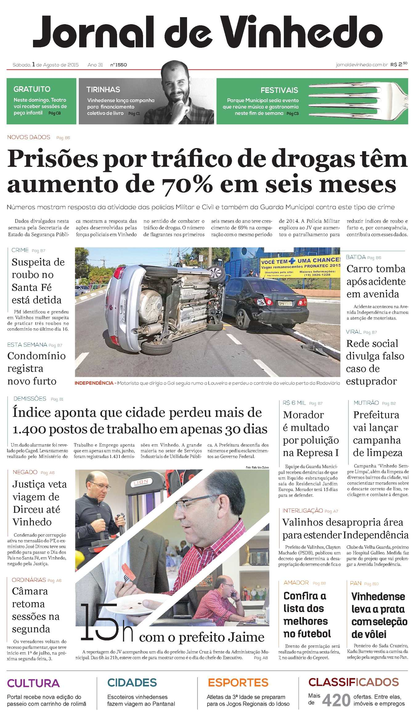 ea411ae4ac675 Calaméo - Jornal De Vinhedo Sábado, 01 De Agosto De 2015 Edic1550