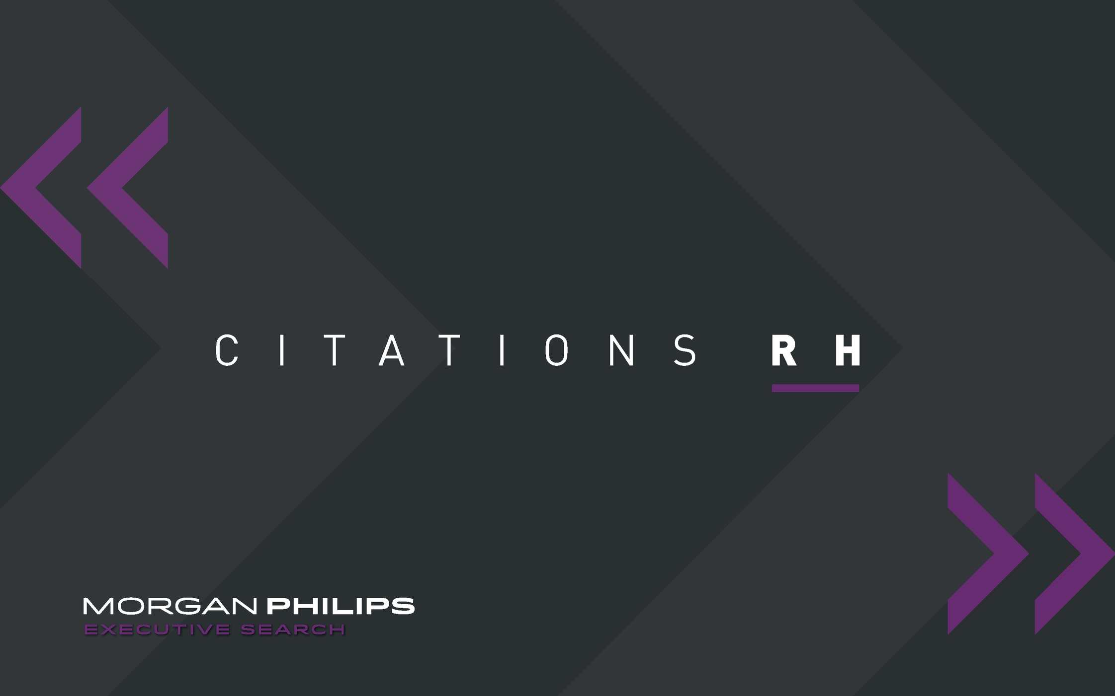 Calaméo Citations Rh Morgan Philips Executive Search