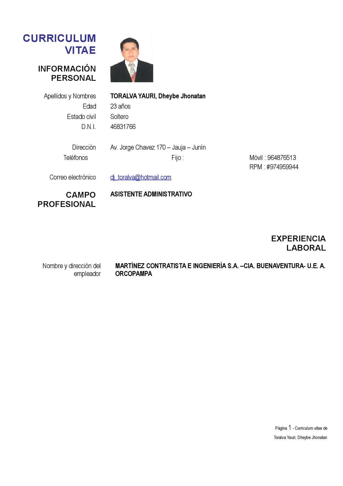 Calameo Curriculum Vitae Toralva