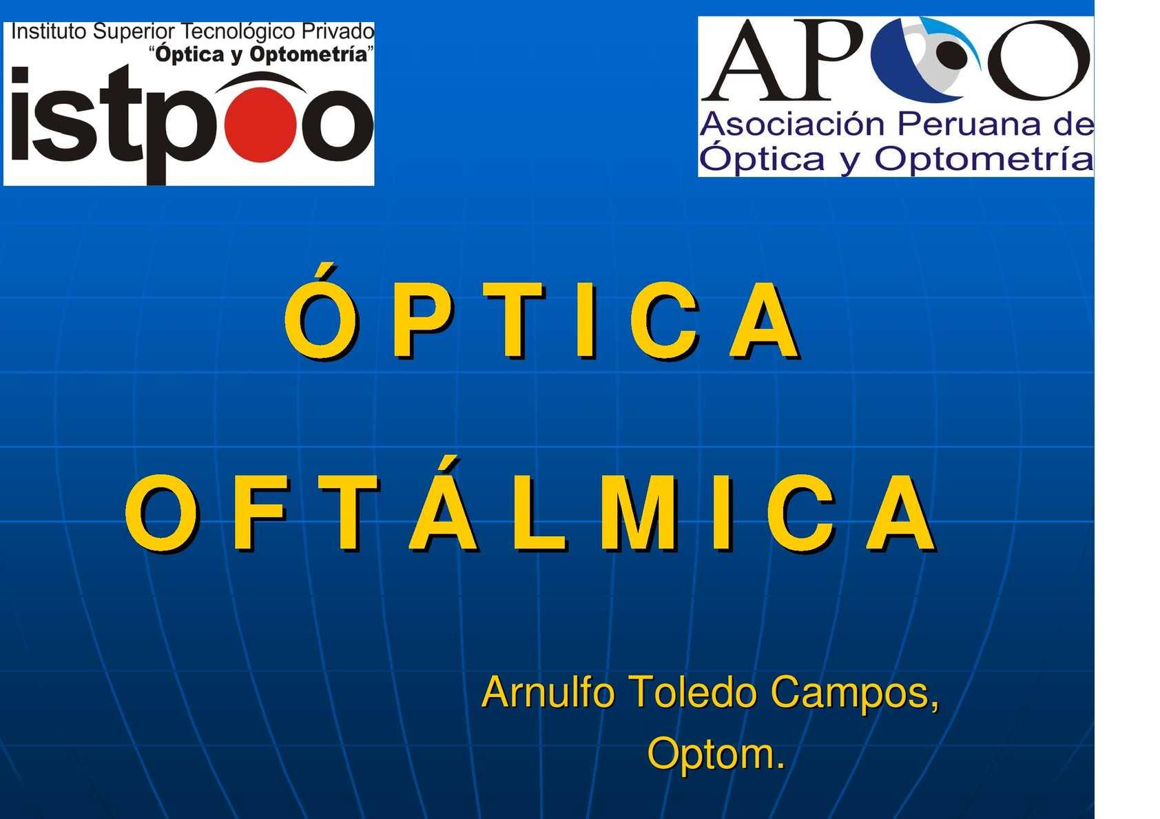 af3fc07ae1120 Calaméo - Óptica Oftalmica  Arnulfo Toledo Campos, Optom