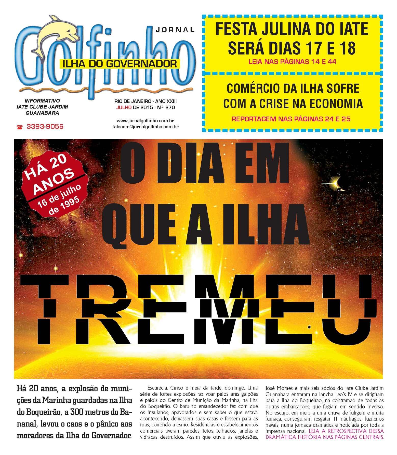 3ca2106785d5e Calaméo - Jornal Golfinho - Julho 2015