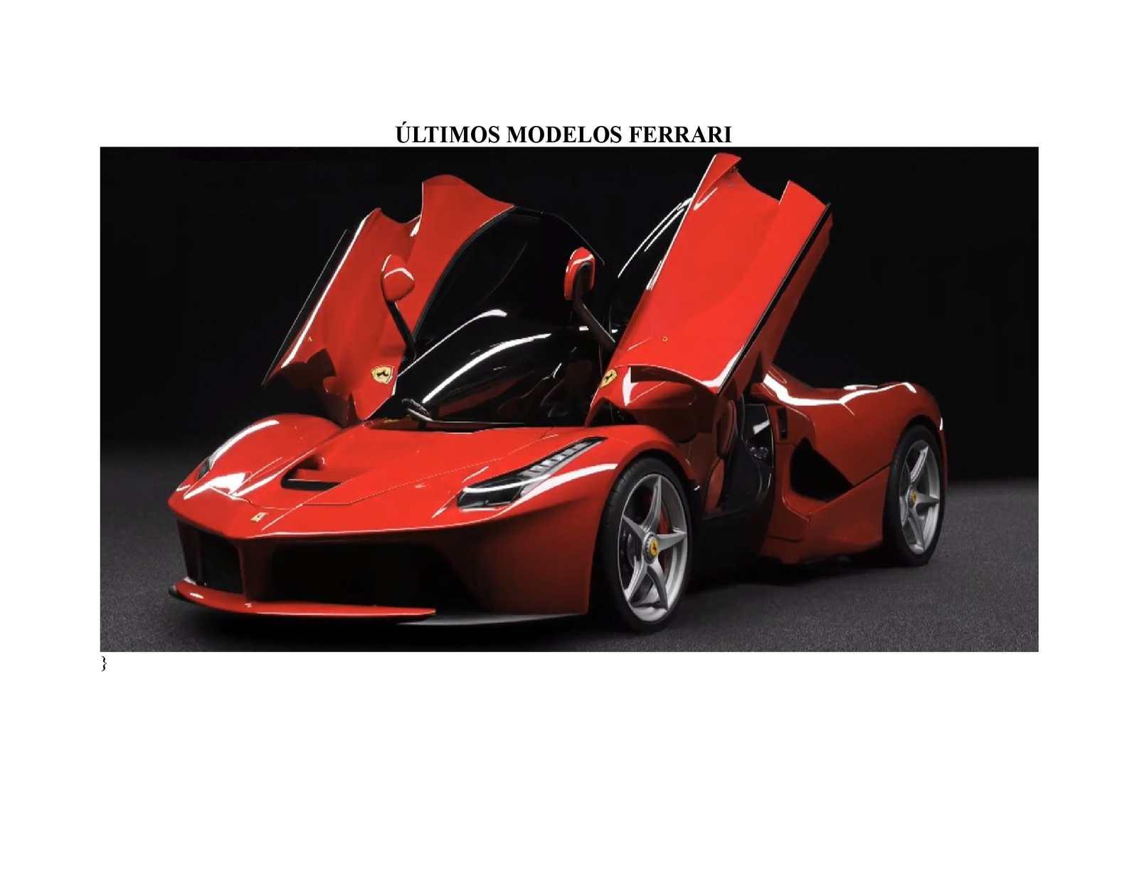 Calaméo últimos Modelos Ferrari
