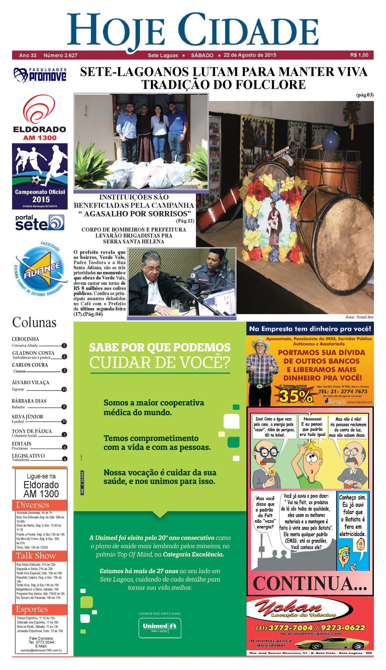 7dfa0821d9 Calaméo - Jornal Hoje Cidade 22 08 2015