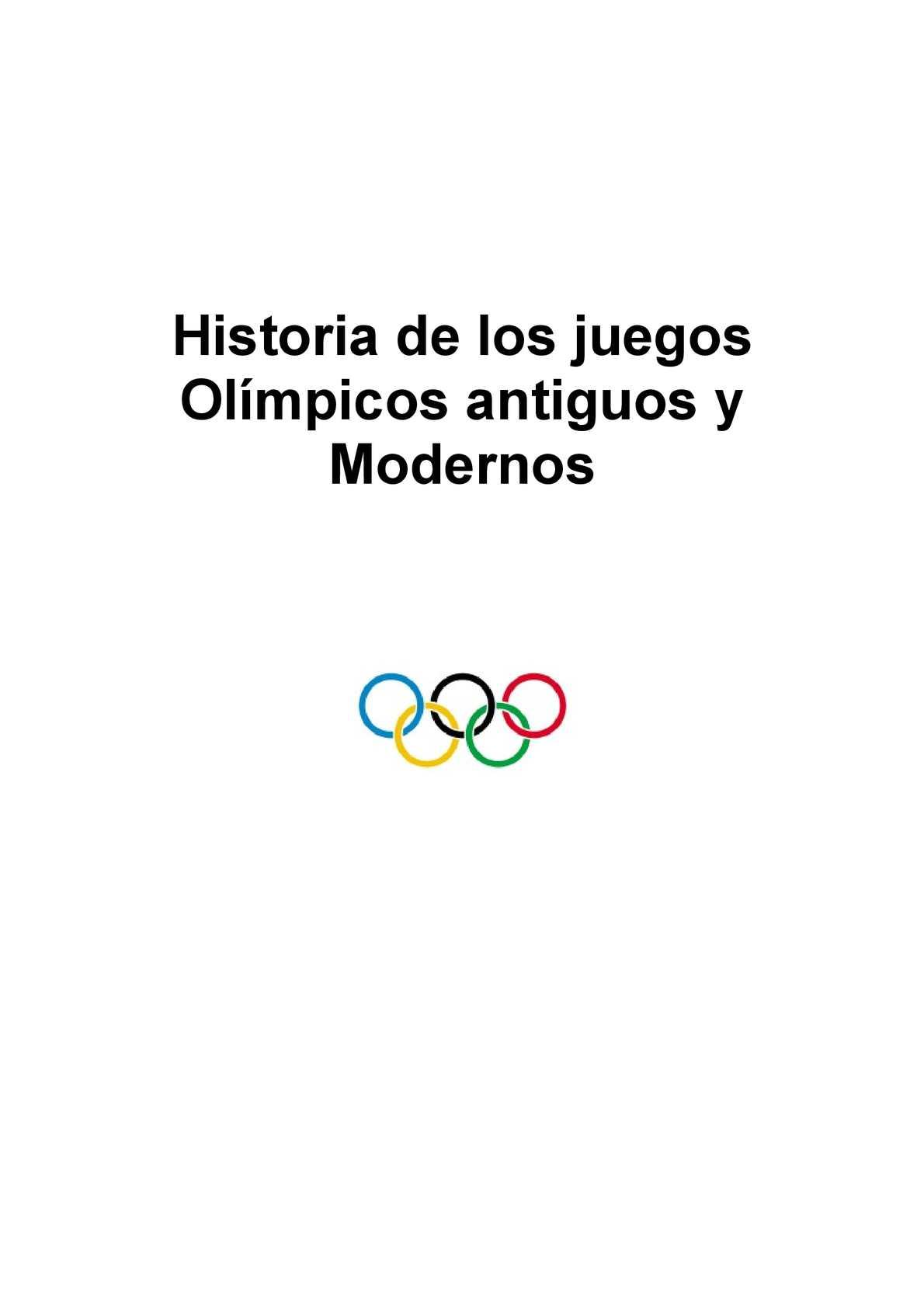 Calameo Historia De Los Juegos Olimpicos