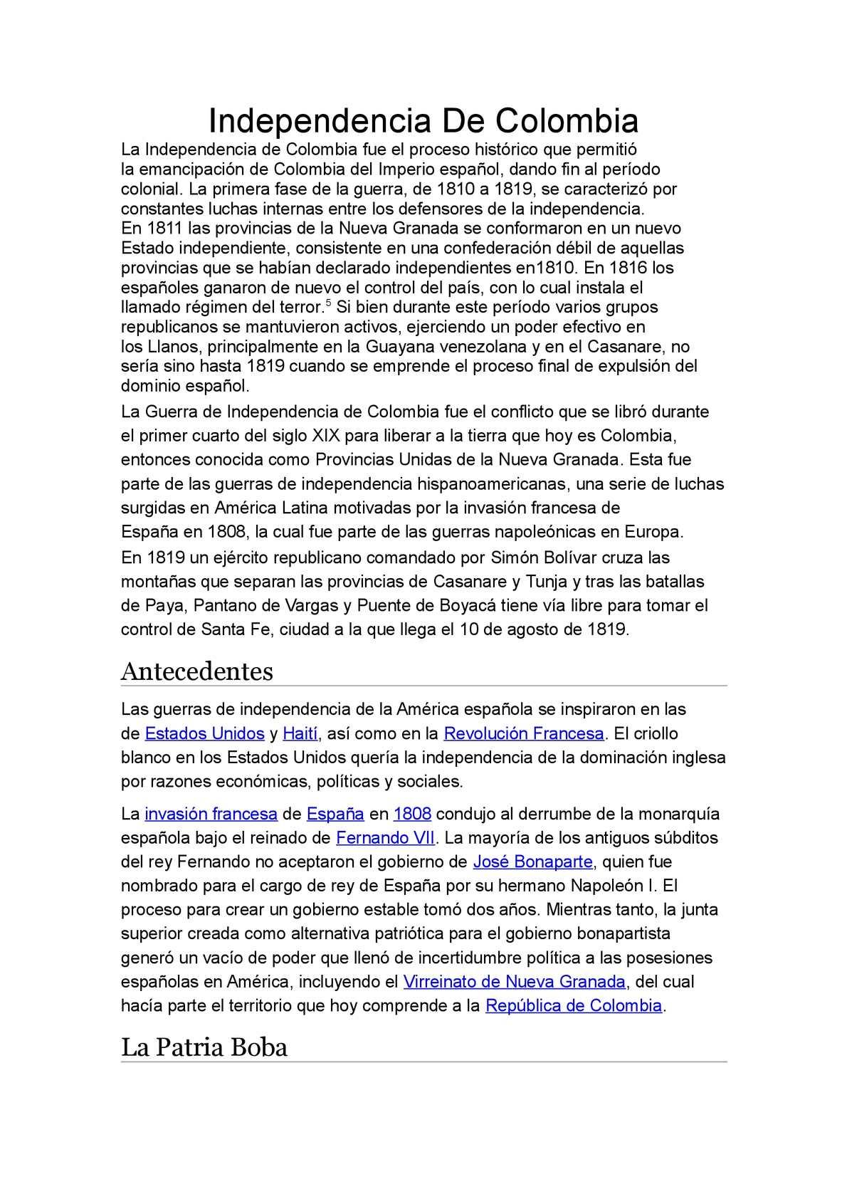Calameo Independencia De Colombia