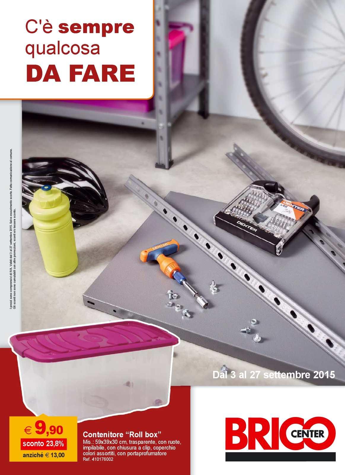 Brico Contenitori In Plastica.Calameo Volantino Brico Center Dal 3 Al 27 Settembre