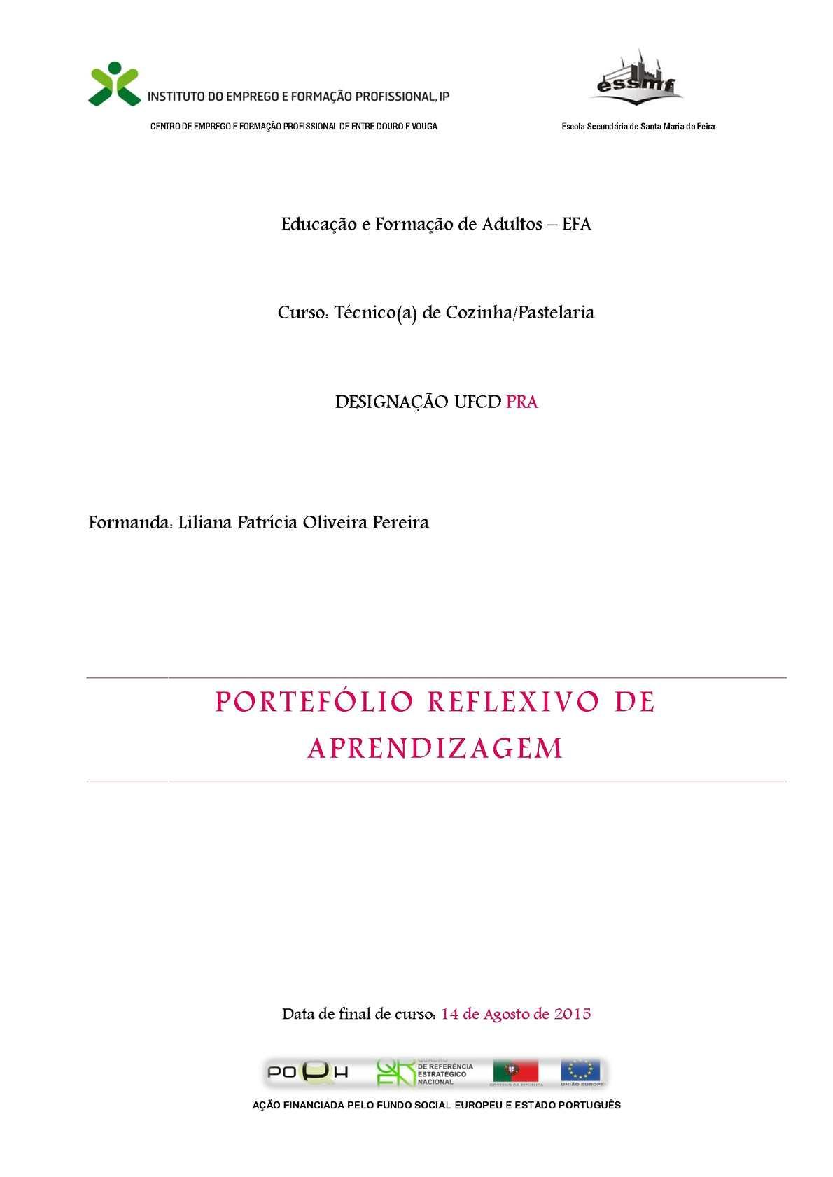 Portefólio Reflexivo De Aprendizagem