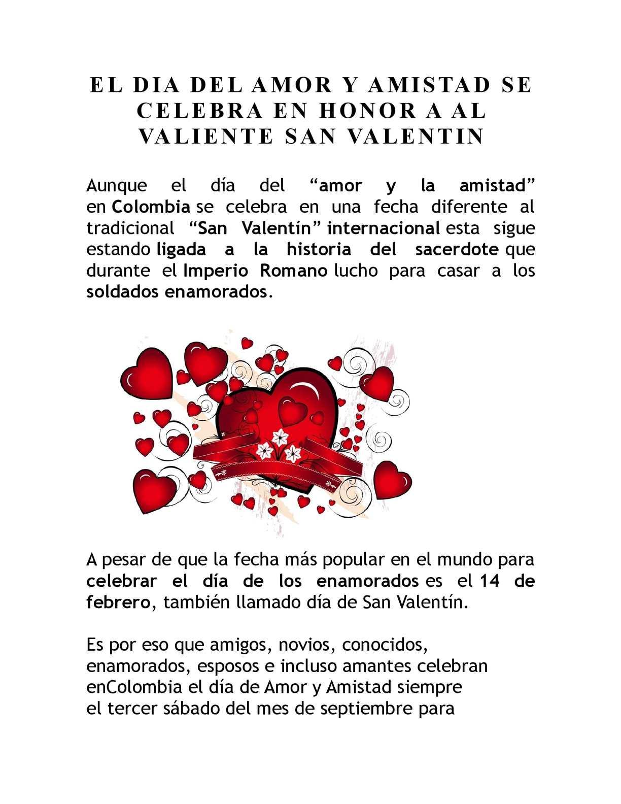 aac909b6725d Calaméo - El Dia Del Amor Y Amistad Se Celebra En Honor A Al Valiente San  Valentin