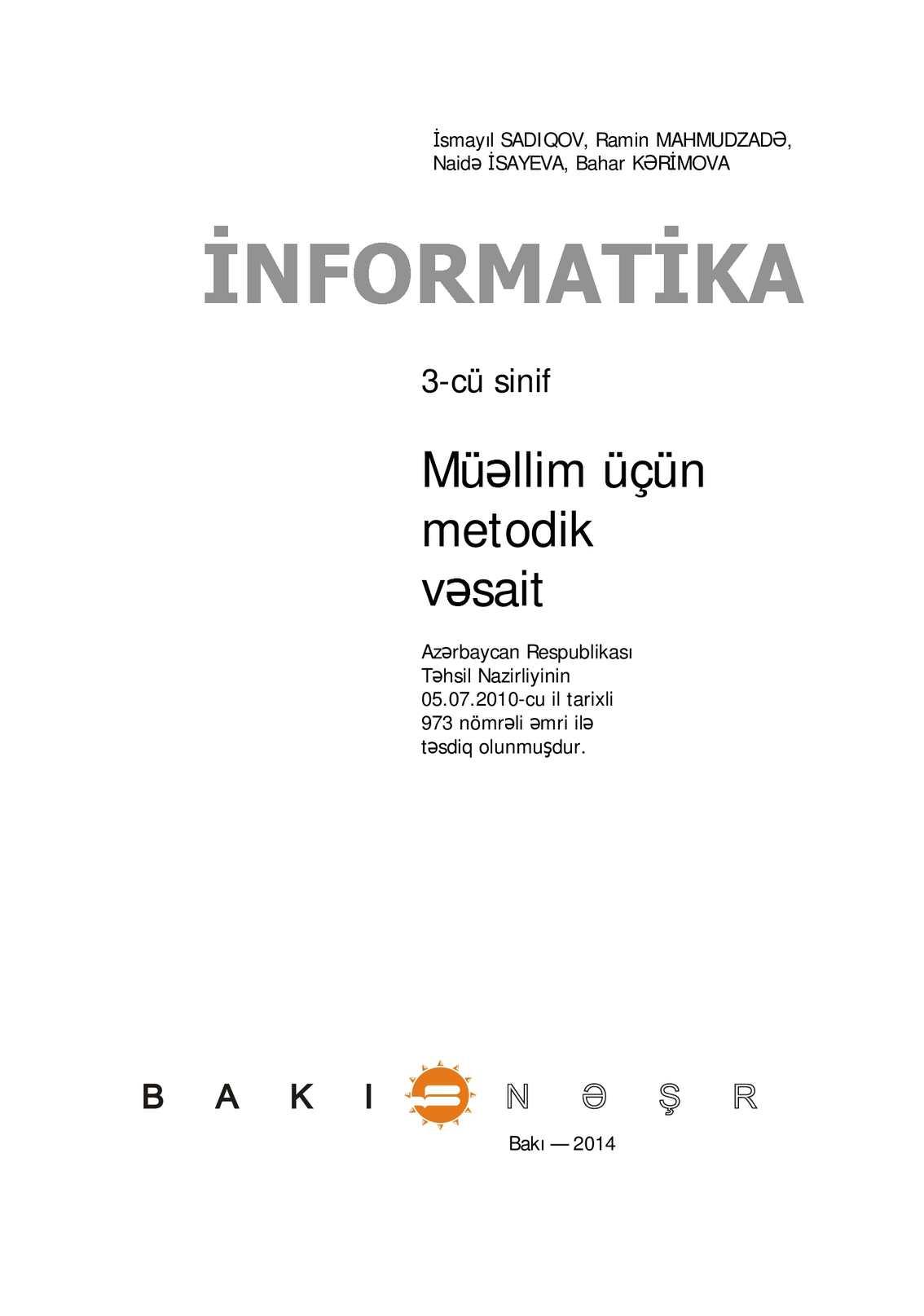 Calameo 3 Cu Sinif Informatika Muәllim Ucun Metodik Vәsait 2014