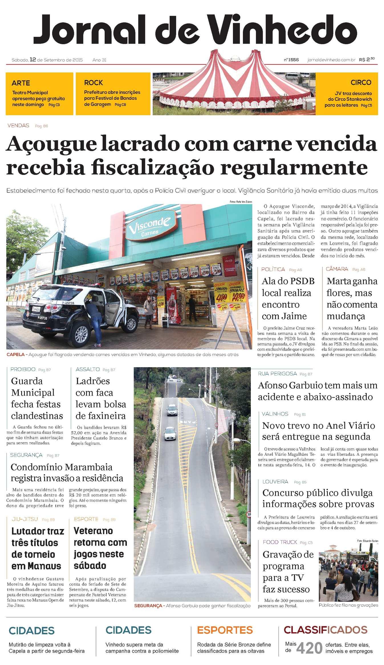 30bd5e19c11e9 Calaméo - Jornal De Vinhedo Sábado, 12 De Setembro De 2015 Edic 1556