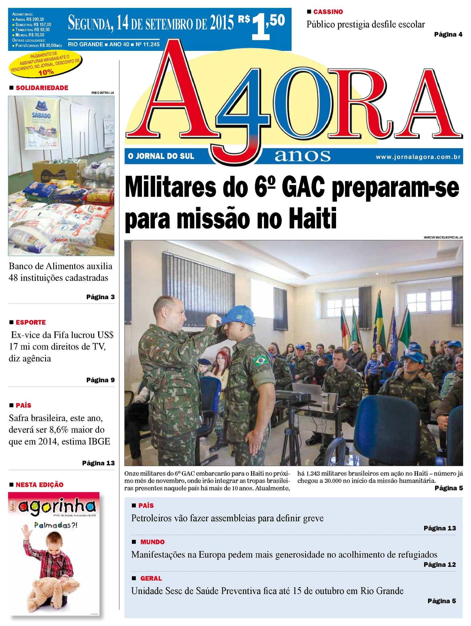 f8ab78491a Calaméo - Jornal Agora - Edição 11245 - 14 de Setembro de 2015