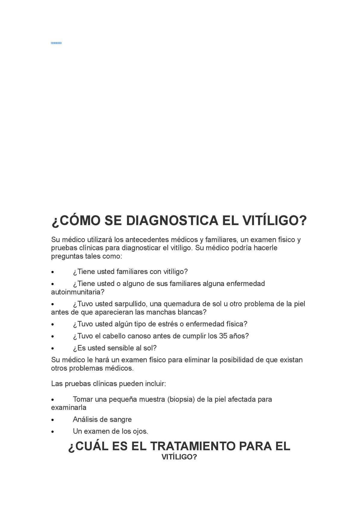 Calameo Como Se Diagnostica El Vitiligo