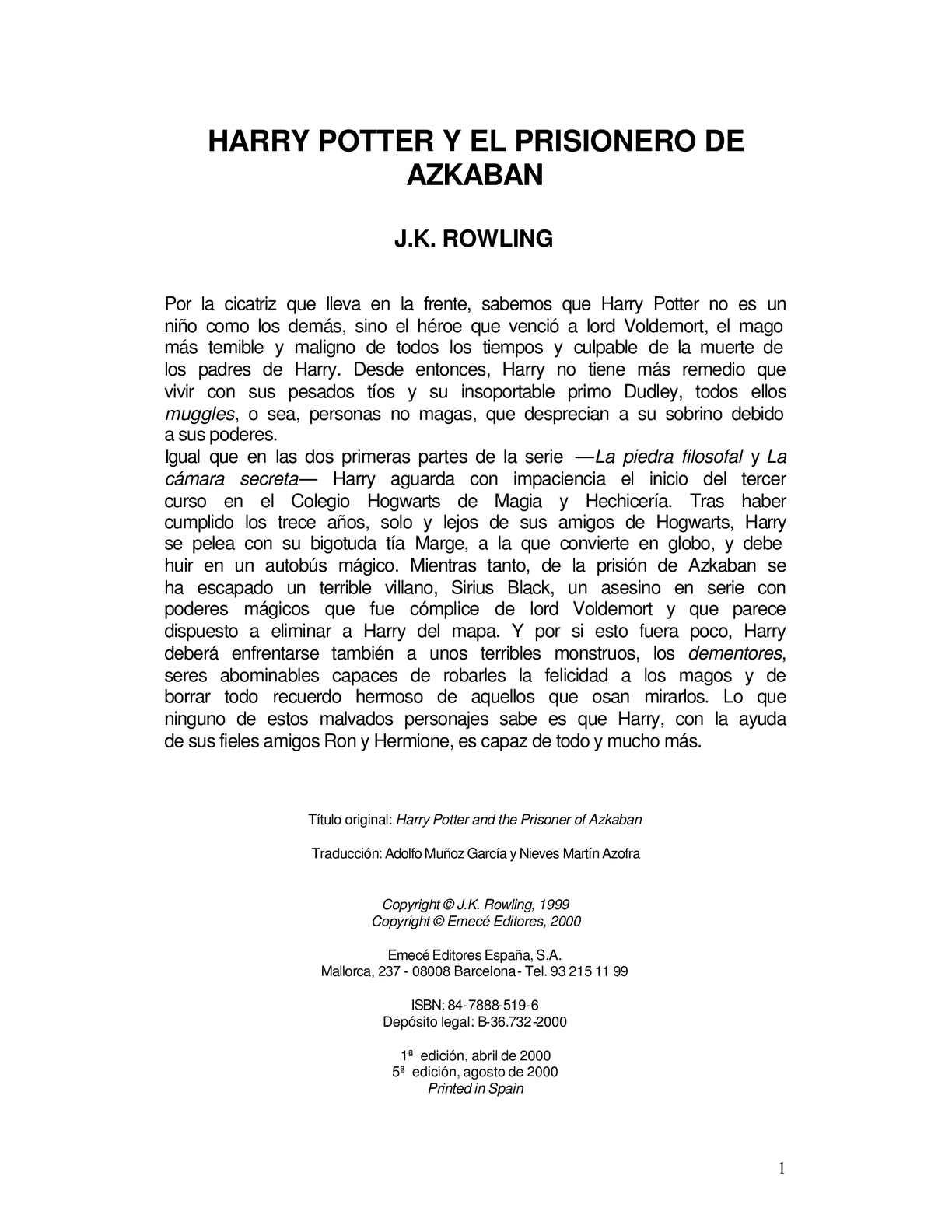 Calaméo Harry Potter Y El Prisionero De Azkaban 03