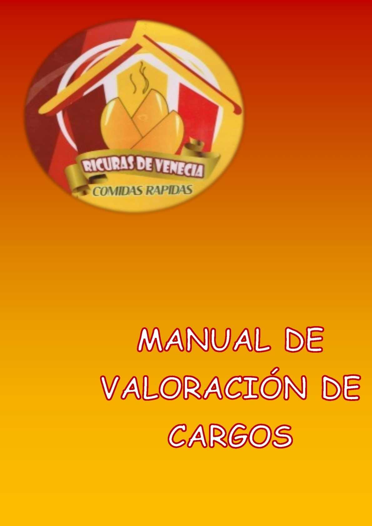 Manual De Valoracion De Cargos