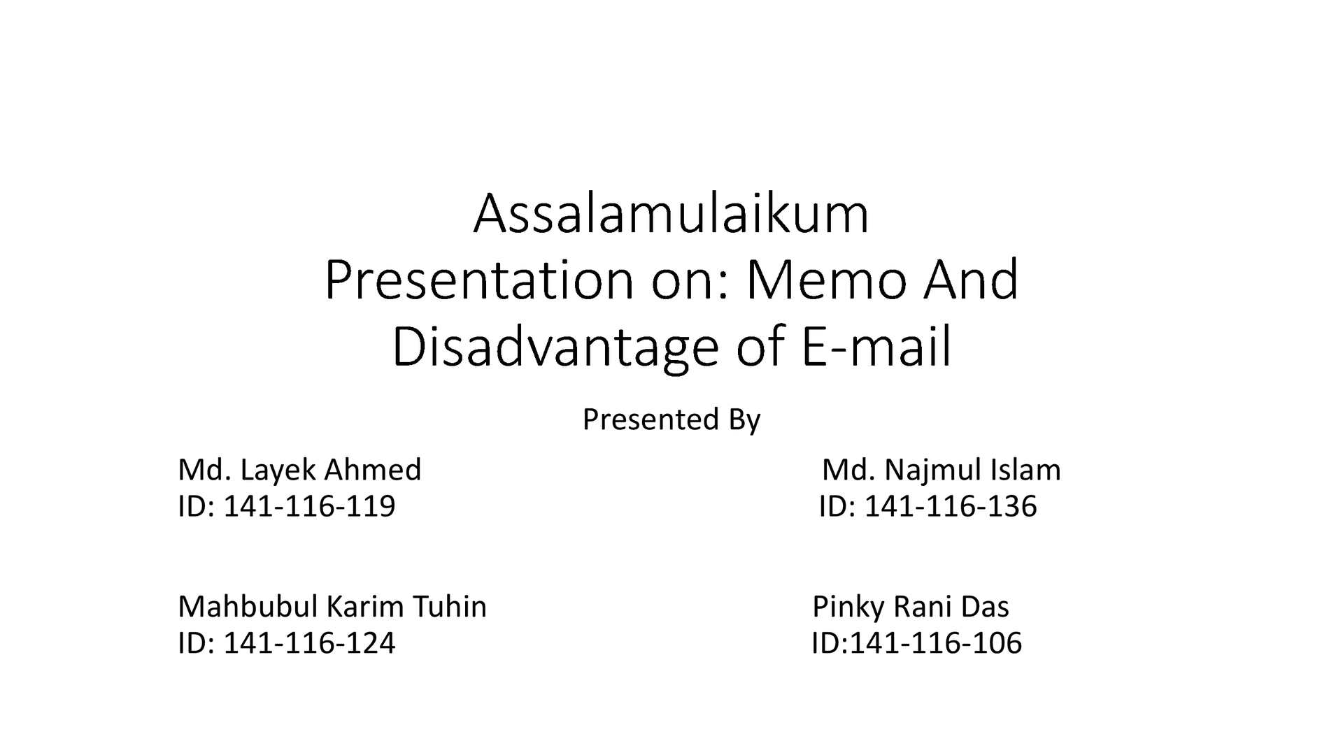 Calaméo - Memorandum And Disadvantage Of E Mail