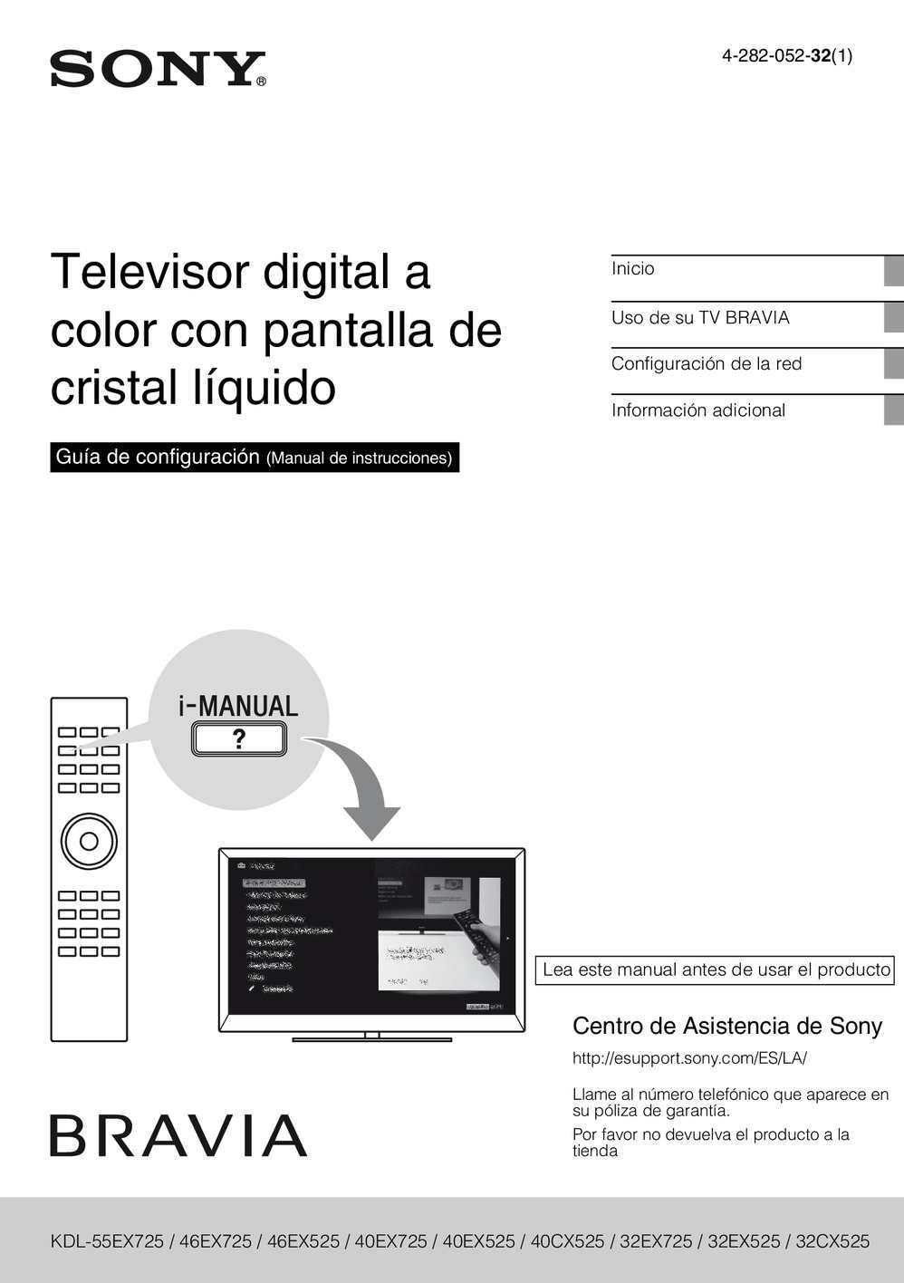 Manual Sony Bravia