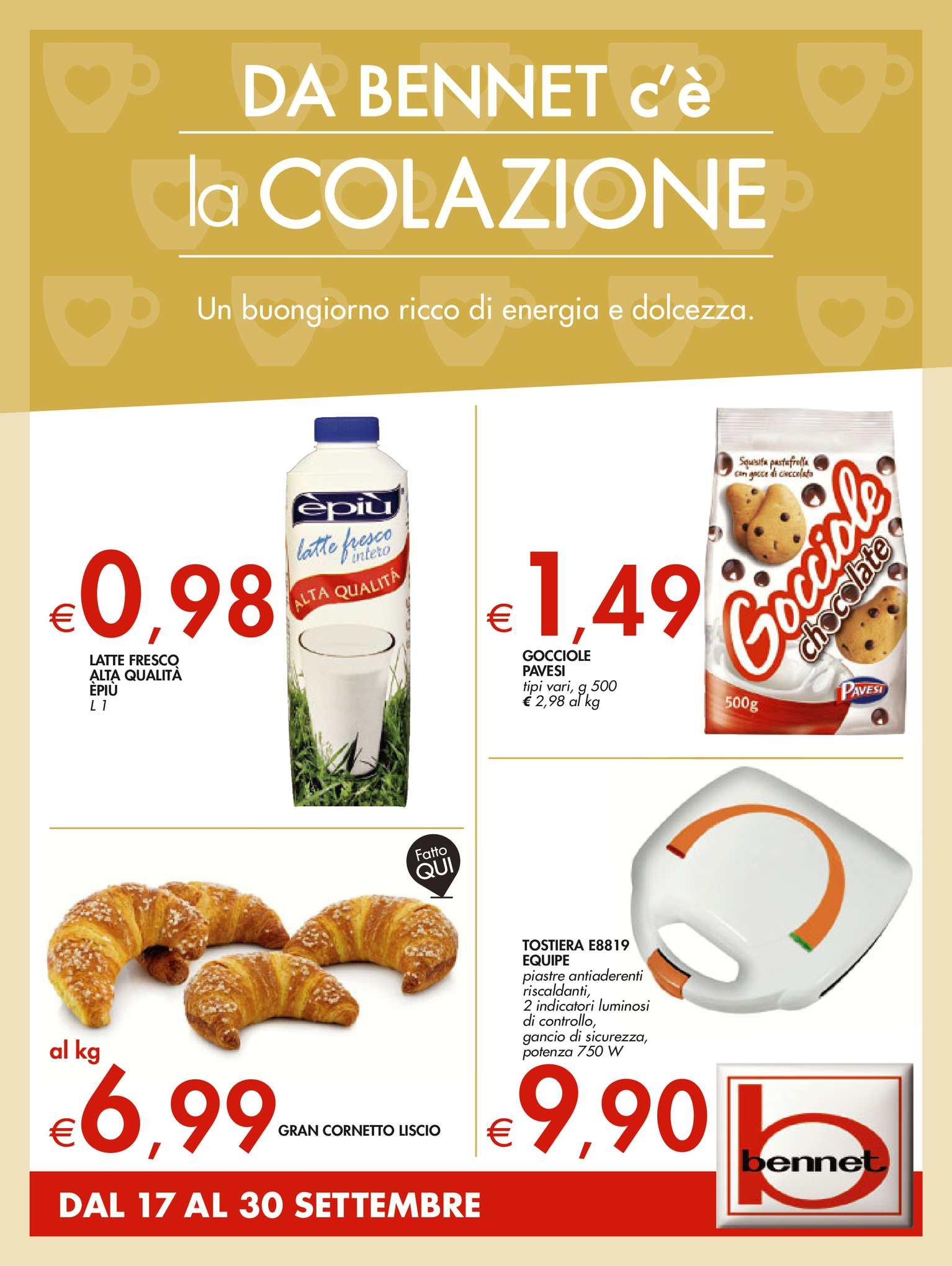 timeless design 12d06 c4f9f Calaméo - Volantino Bennet Colazione Dal 17 Al 30 Settembre