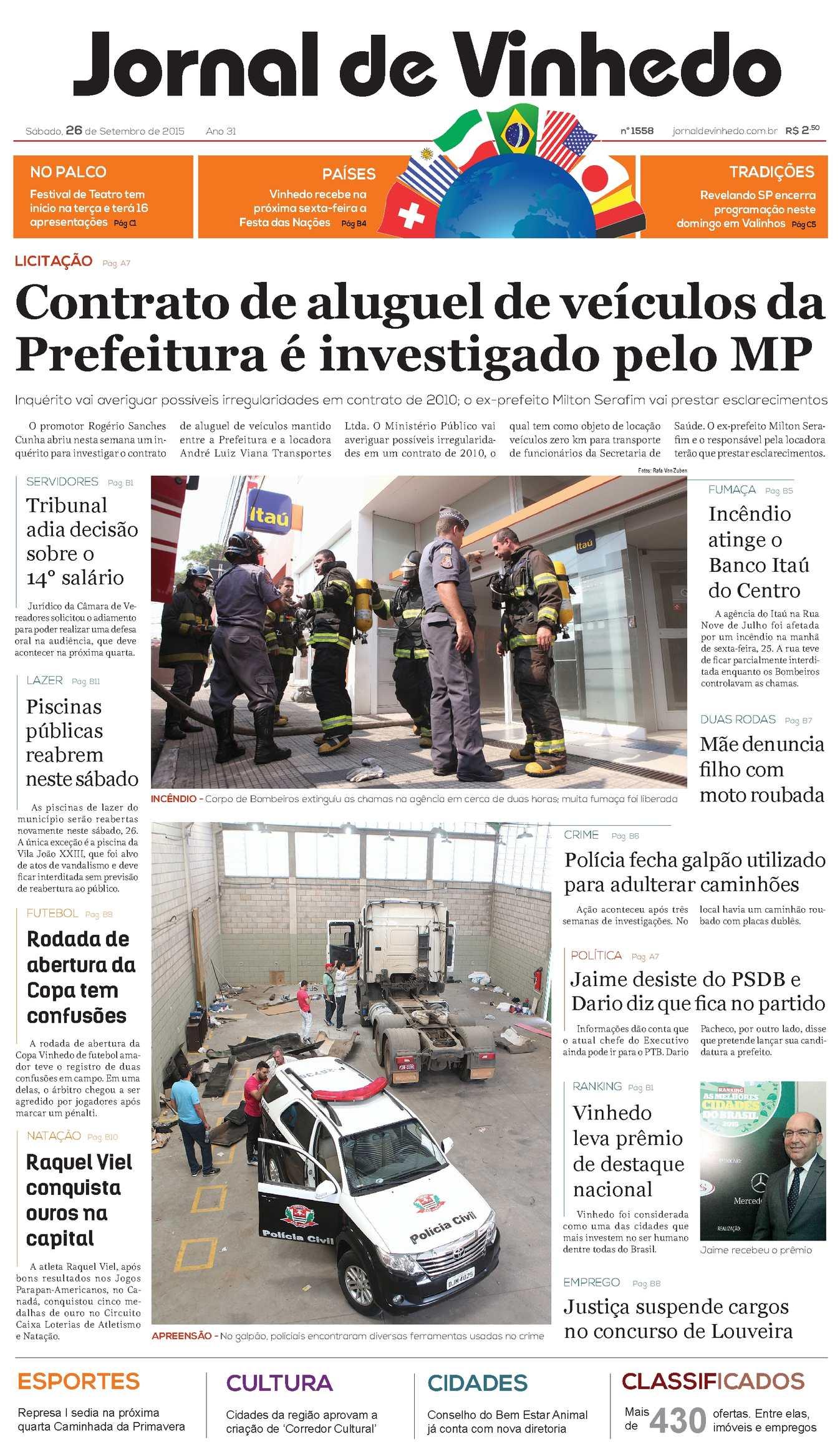 d73235f6a Calaméo - Jornal De Vinhedo Sábado, 6 De Setembro De 2015 Edic 1558