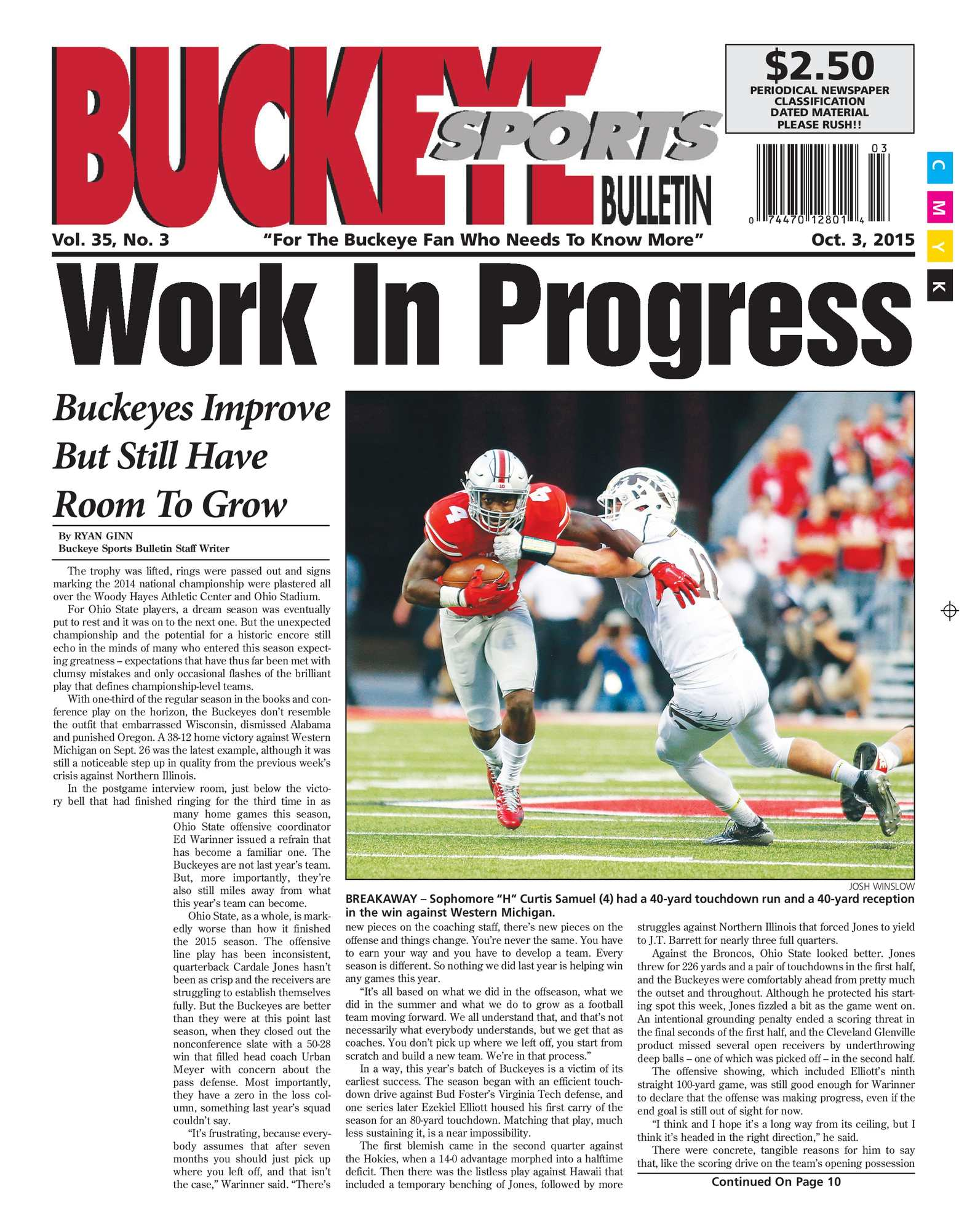 82d48ac5 Calaméo - Buckeye Sports Bulletin October 03, 2015
