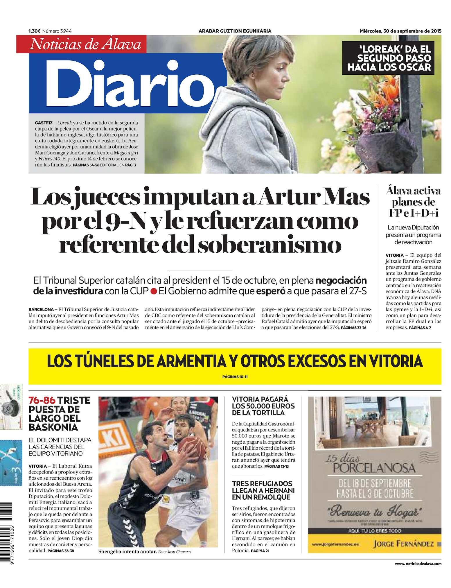 ab39ddde03 Calaméo - Diario de Noticias de Álava 20150930