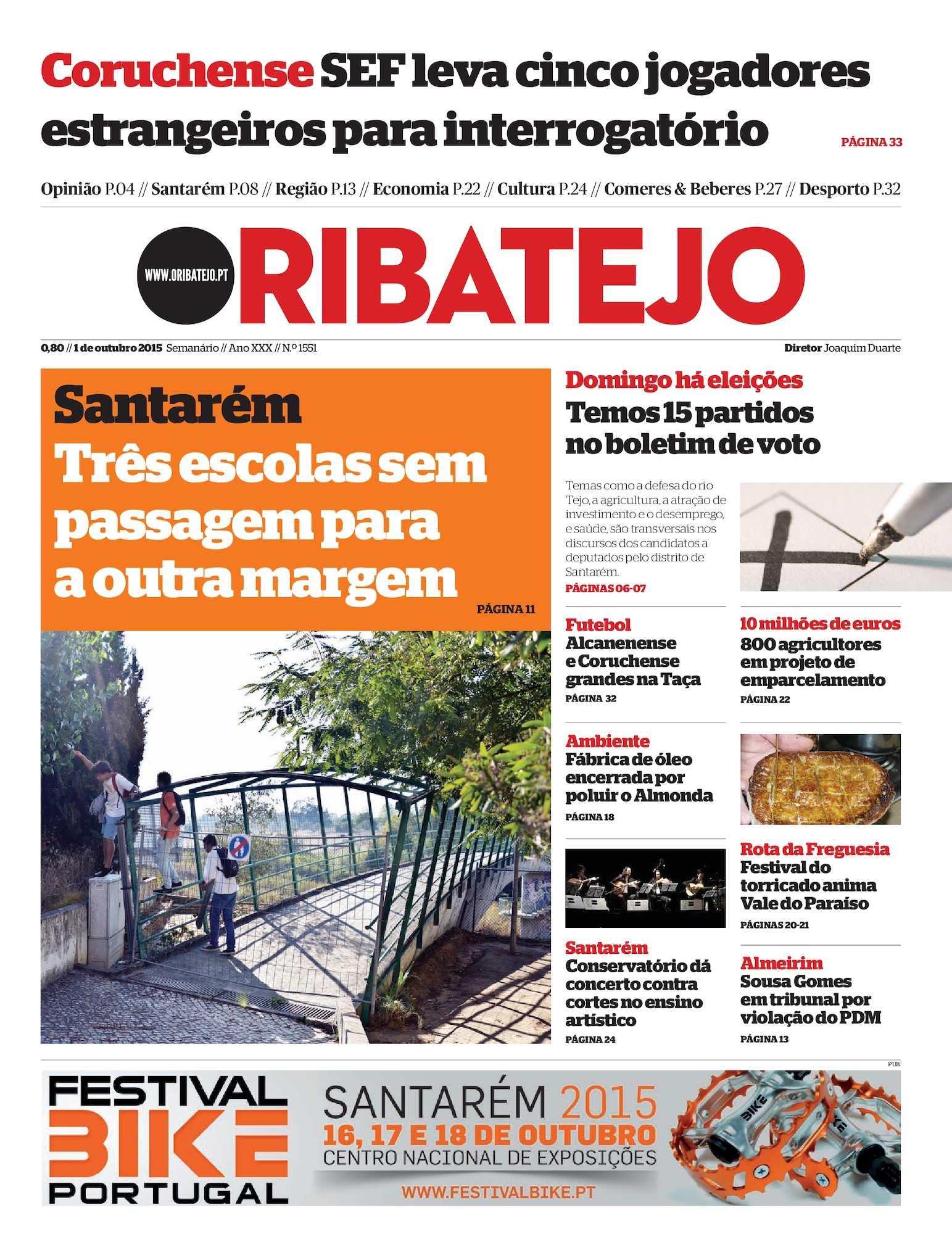 dd444d632384b Calaméo - Edição 1551 do Jornal O Ribatejo - 1 de Outubro de 2015