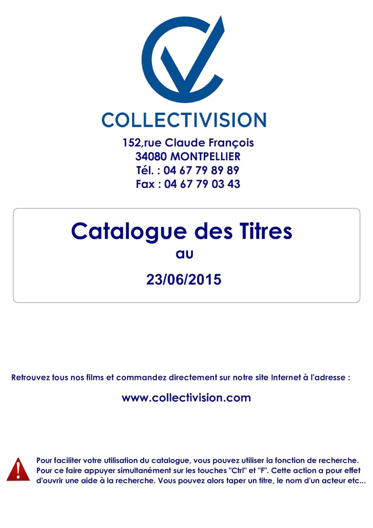 Calaméo Catalogues De Films Collectivision