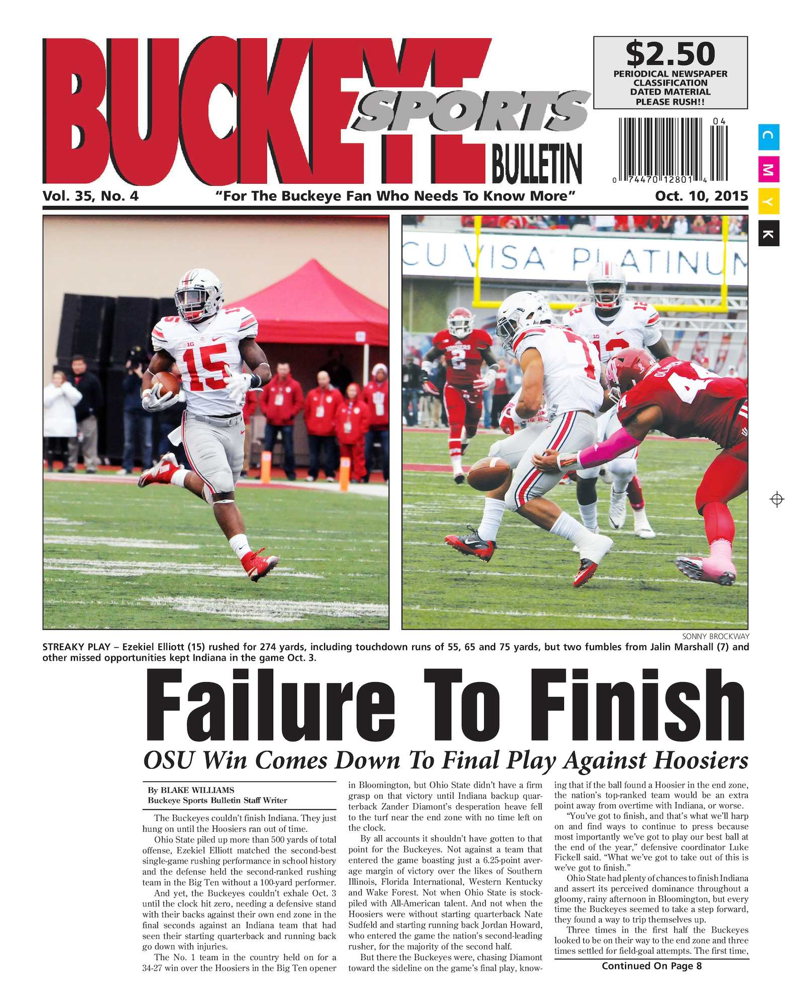 8a258604 Calaméo - Buckeye Sports Bulletin October 10, 2015