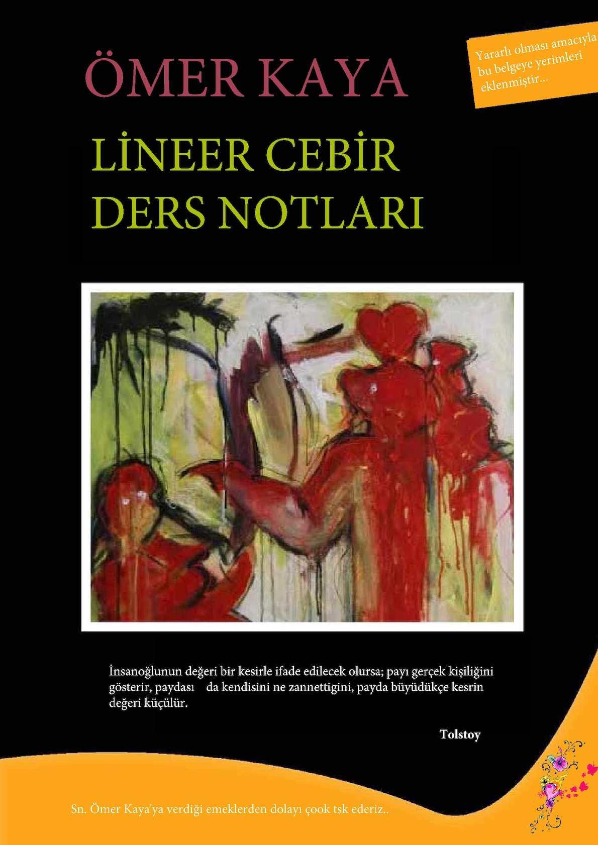LINEER CEBIR DERS NOTU PDF