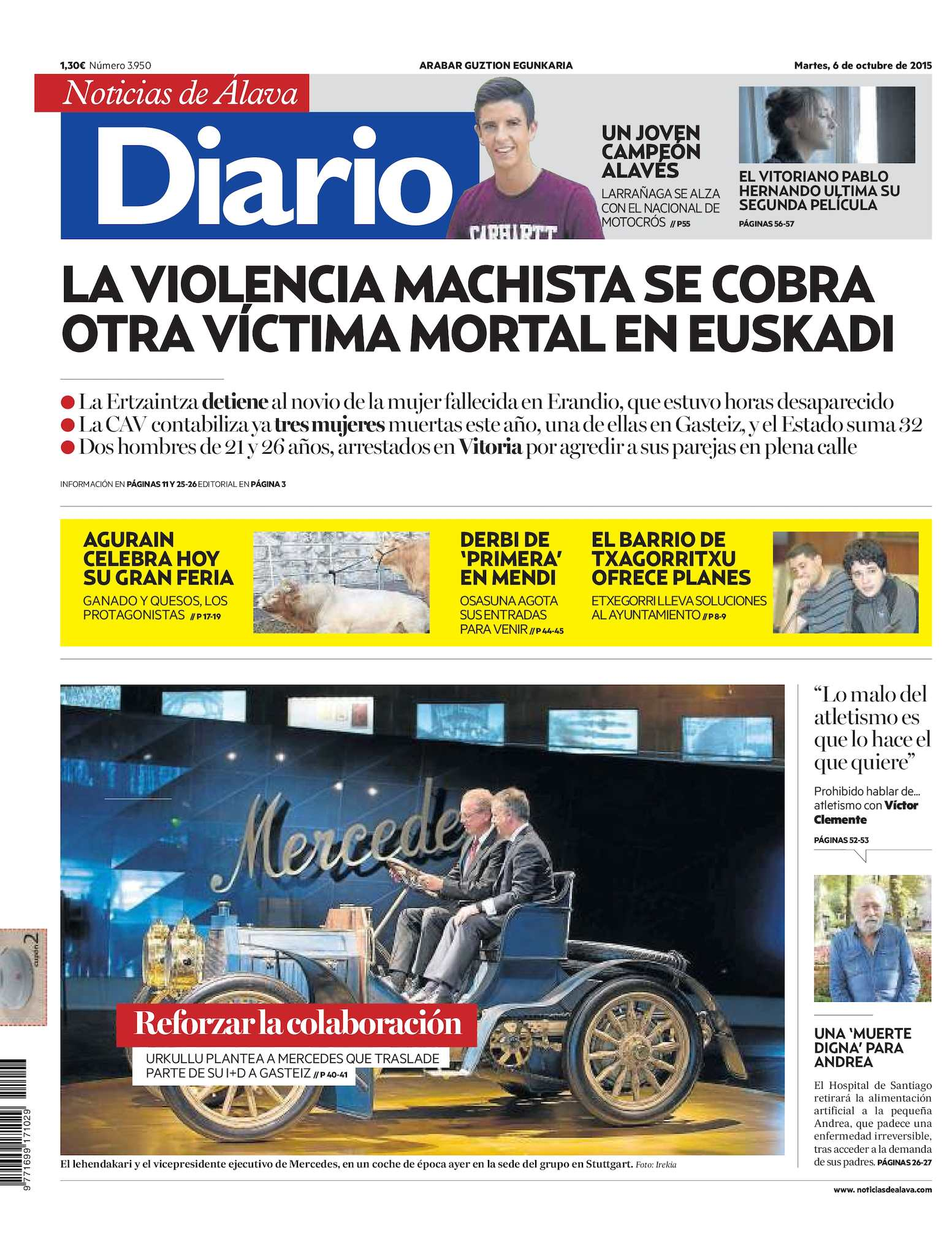 8af8830c7537 Calaméo - Diario de Noticias de Álava 20151006